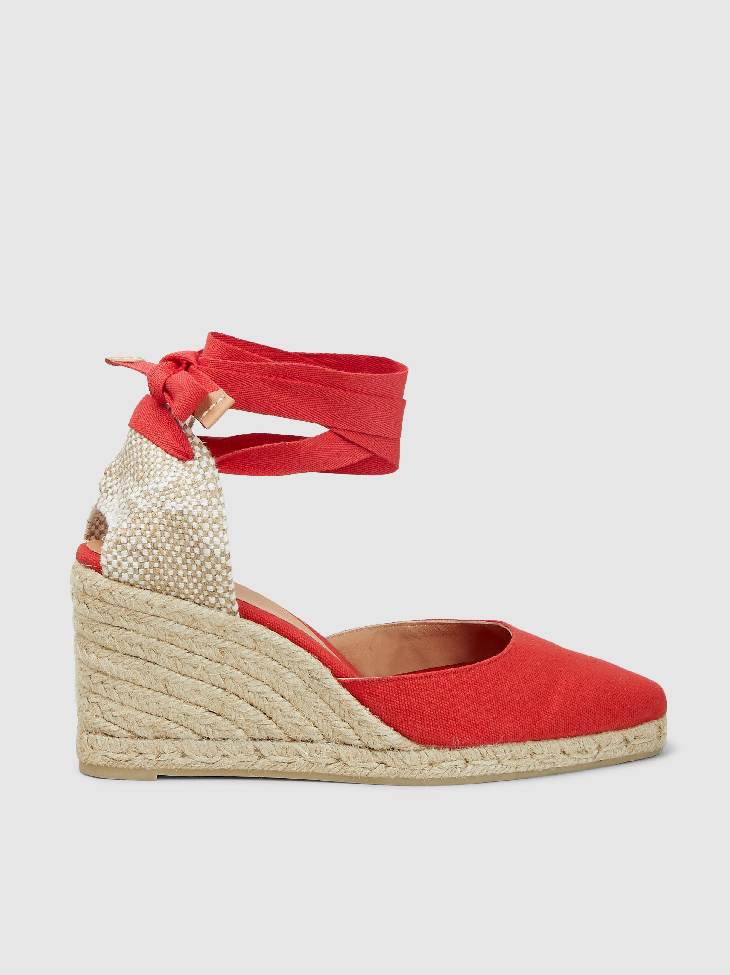 18aa00de1a Castaner Joyce Pointed Toe Wedge Heel Espadrilles in Red - Lyst