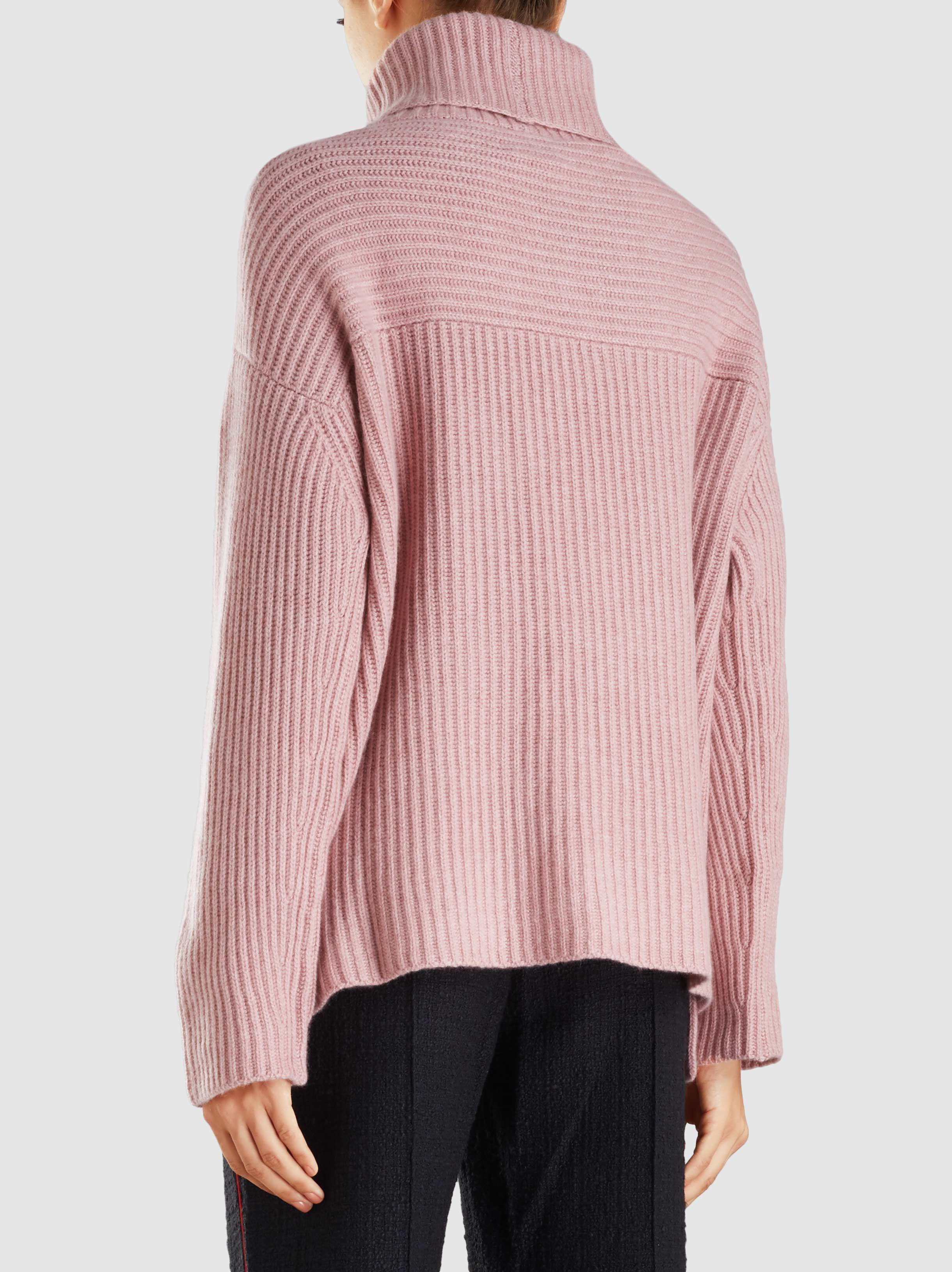 89745945e69475 Le Kasha Lisbon Oversized Roll Neck Cashmere Sweater in Pink - Lyst