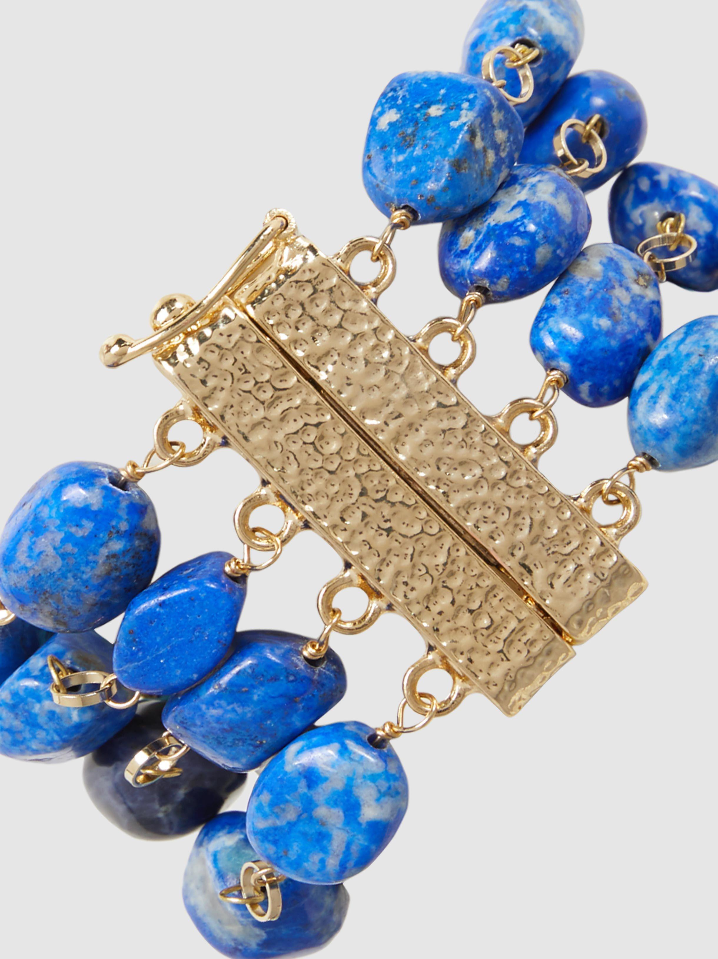 Rosantica Saona Multi-Stone Gold-Tone Bracelet xcYMEgW