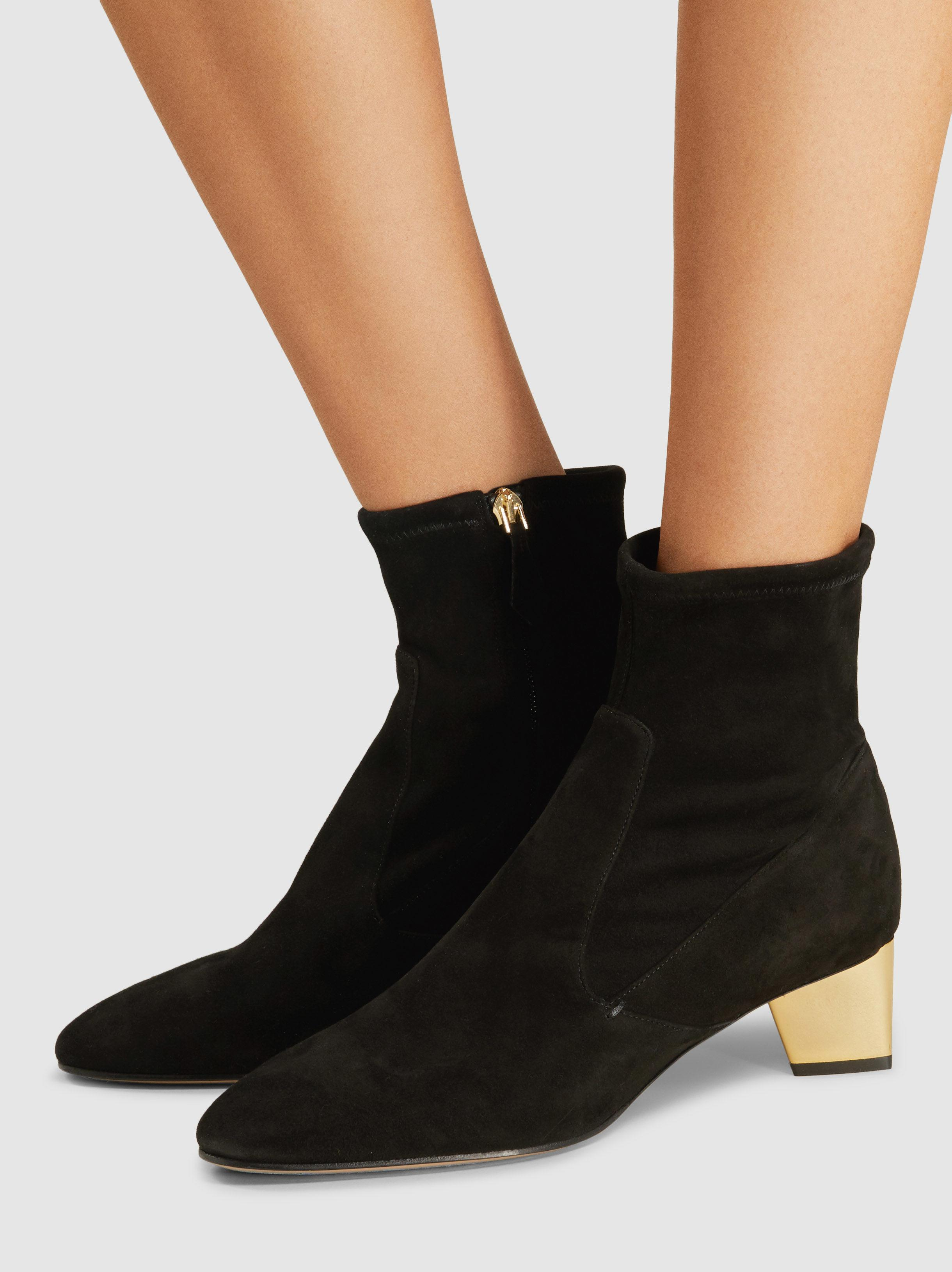 Lyst - Nicholas Kirkwood Prism Suede Ankle Boots in Black e7ba0917e0631