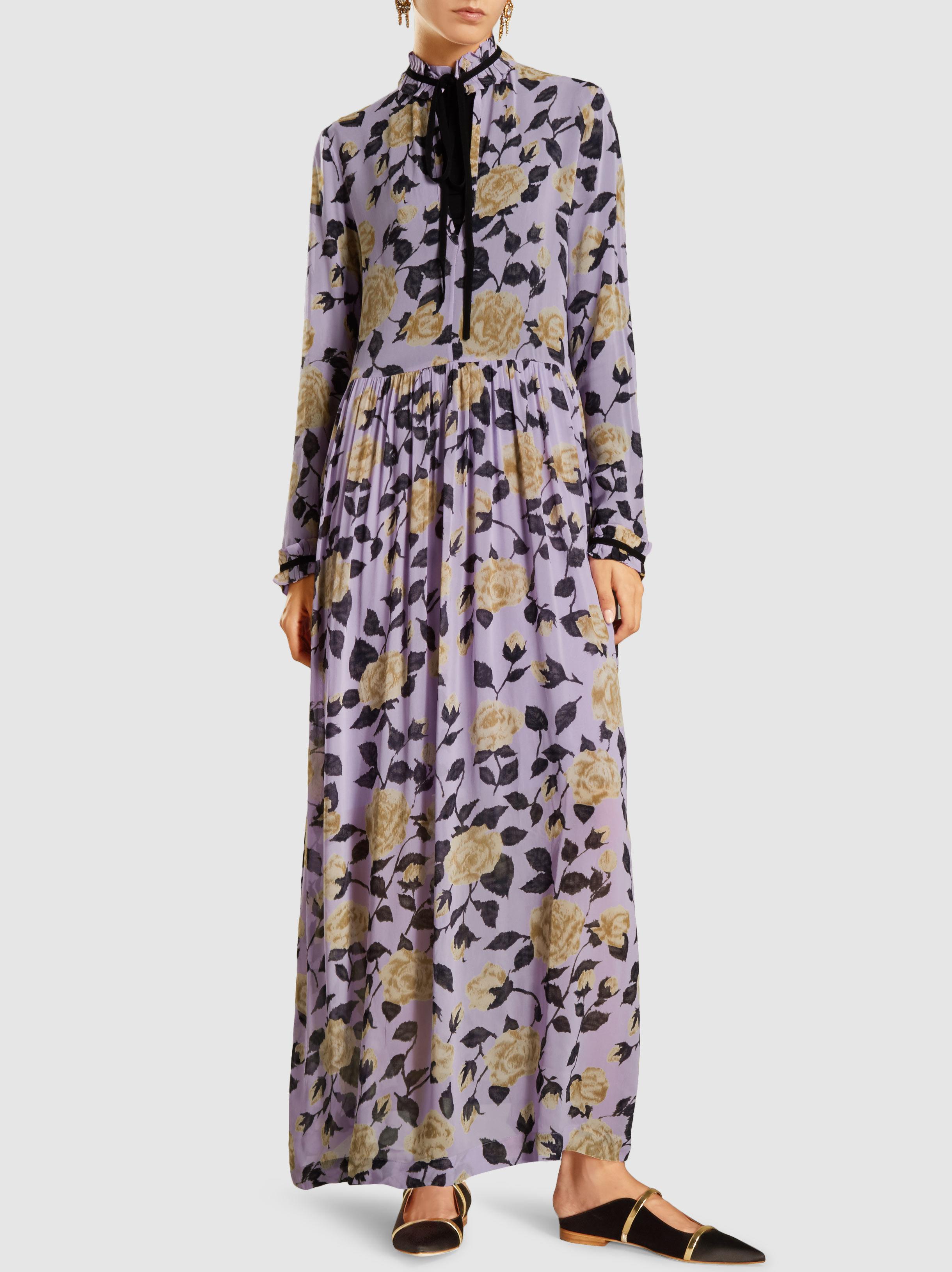 d1e71d8e Ganni Carlton Floral-print Georgette Maxi Dress - Lyst
