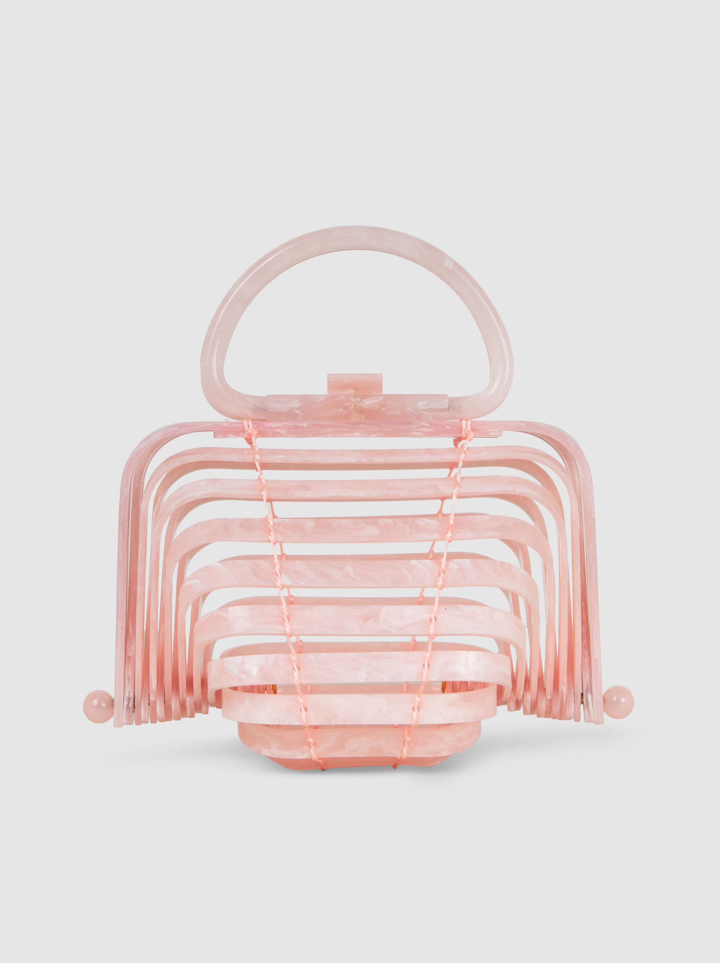 Lyst - Cult Gaia Lilleth Pink Acrylic Top Handle Bag in Pink - Save 1%