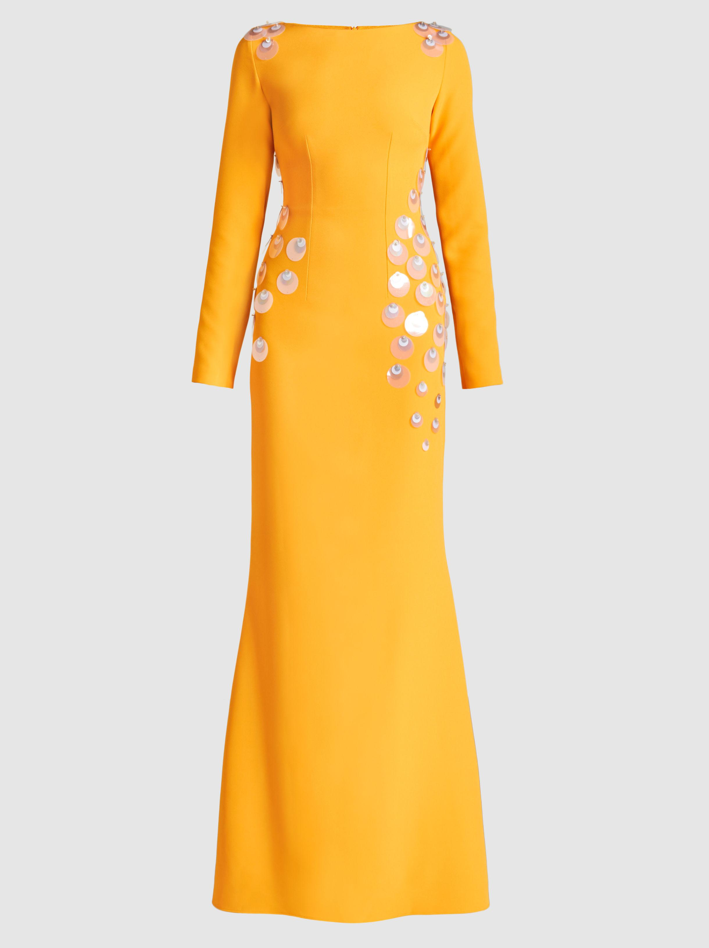 Paillette-Embellished Crepe Gown SAFiYAA Clearance Recommend Footlocker Pictures Sale Online Clearance bAXtM77JNe