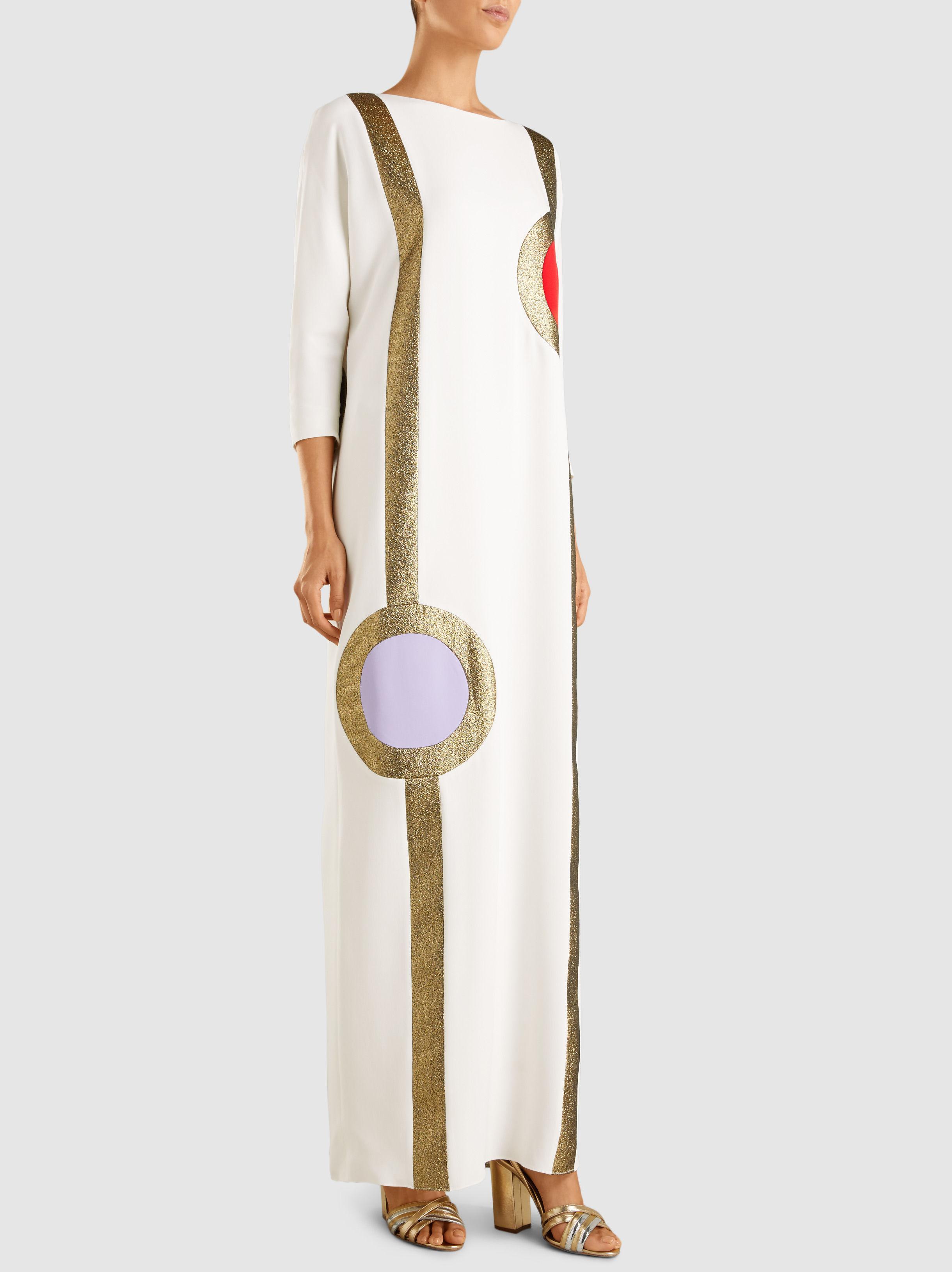 Abstract Silk Kaftan Dress Reem Acra 2IEQNH7Eh