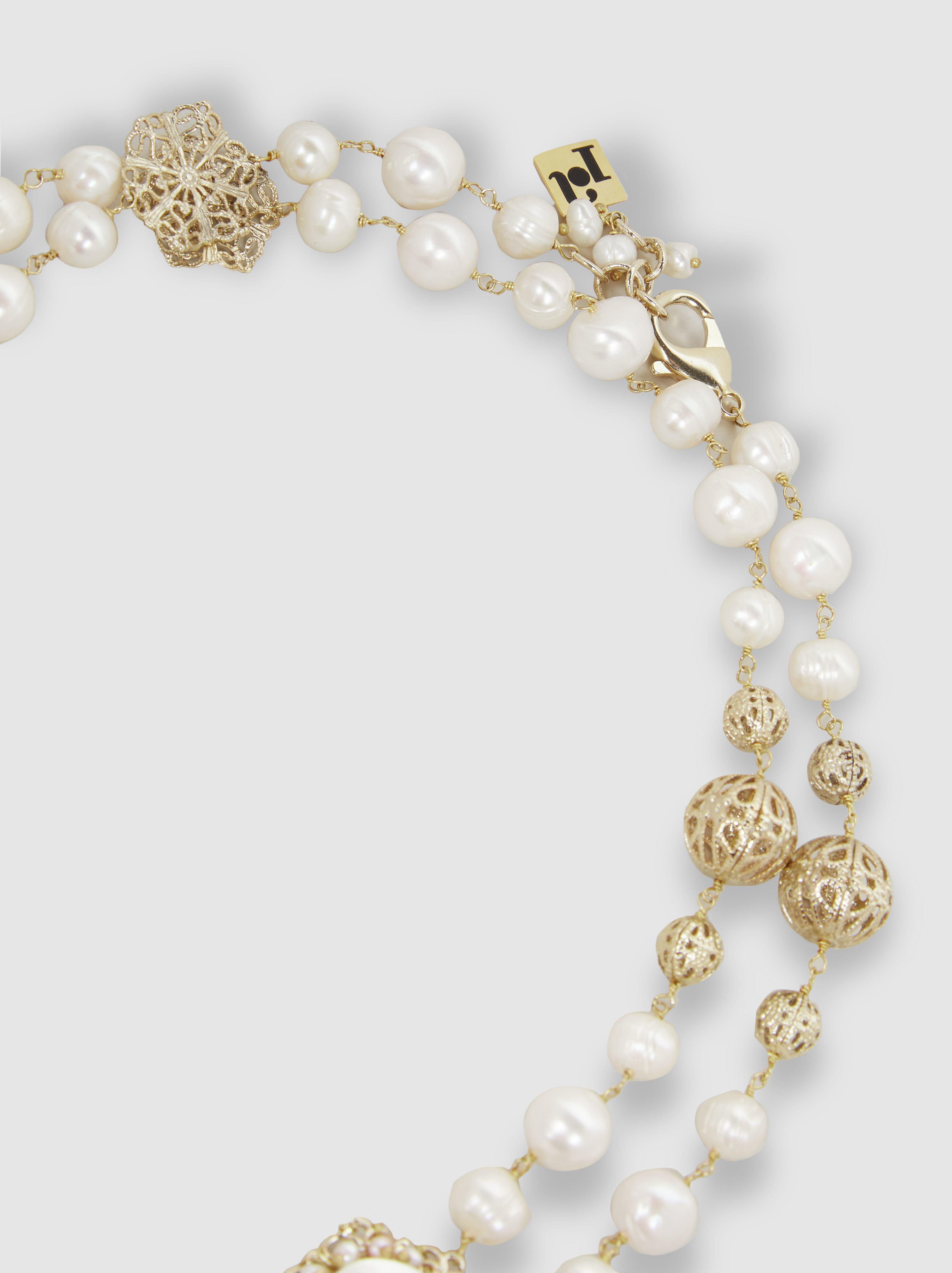Rosantica Woman Gold-plated Freshwater Pearl Bracelet Gold Size Rosantica iRIe2yumxH