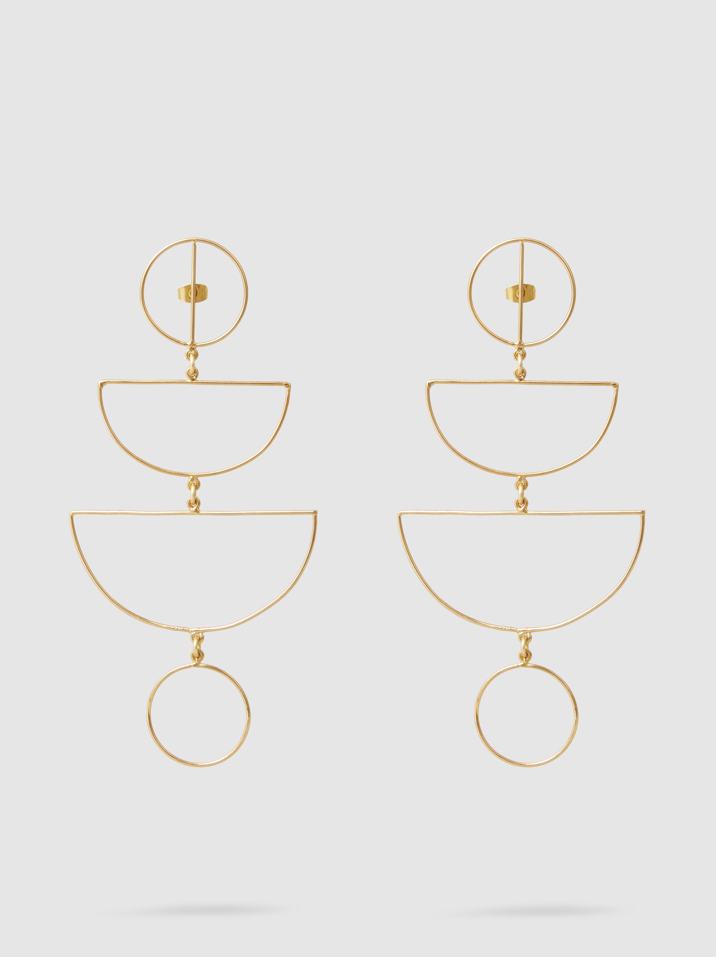 Mercedes Salazar Juego Gold-Tone Earrings lWHdG7