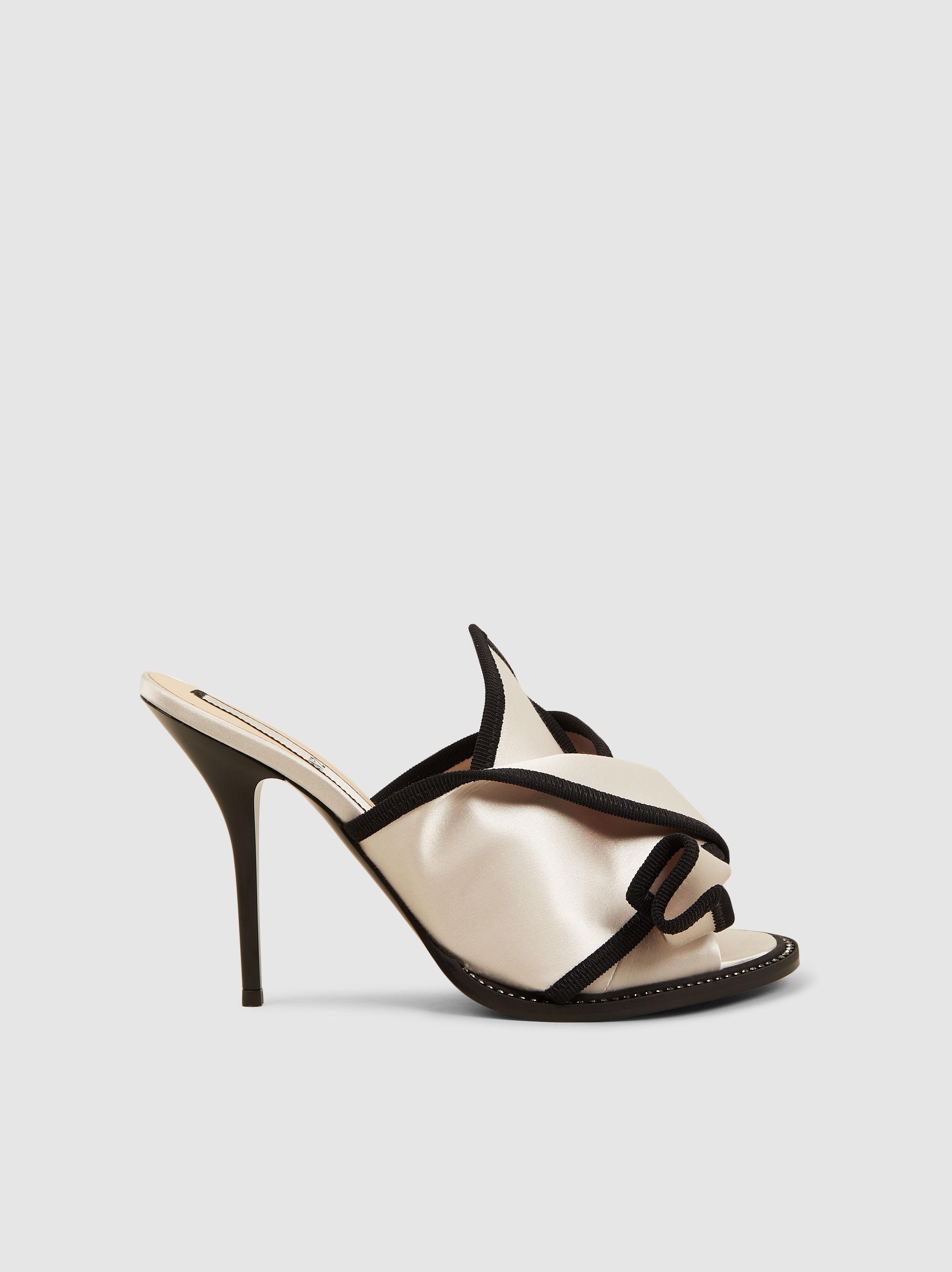 e088816d3474 ... White Bow Two-tone Satin Sandals - Lyst. View fullscreen