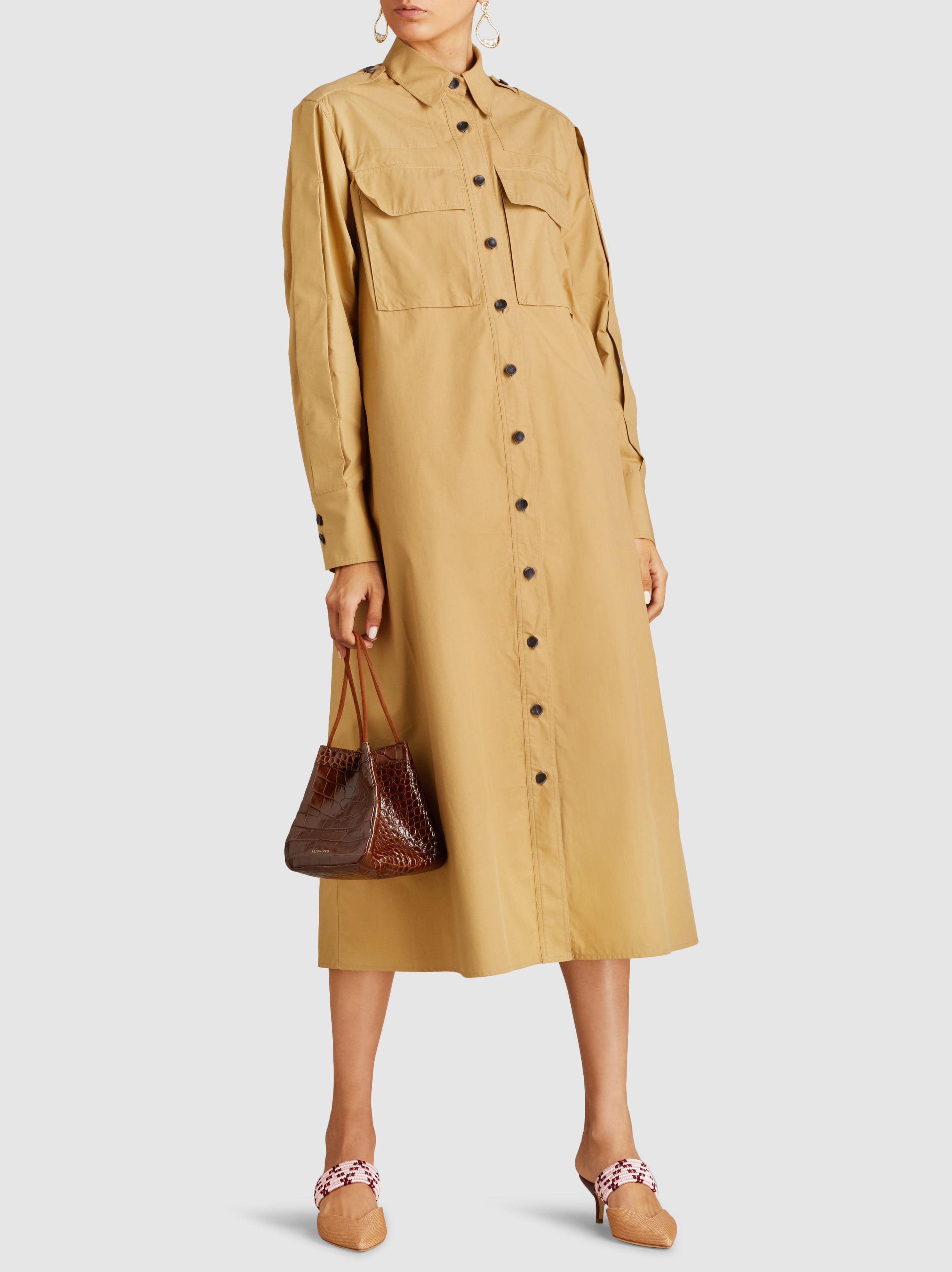 Hayes Cotton-poplin Midi Shirt Dress - Camel Joseph Oaz9vXnB8X