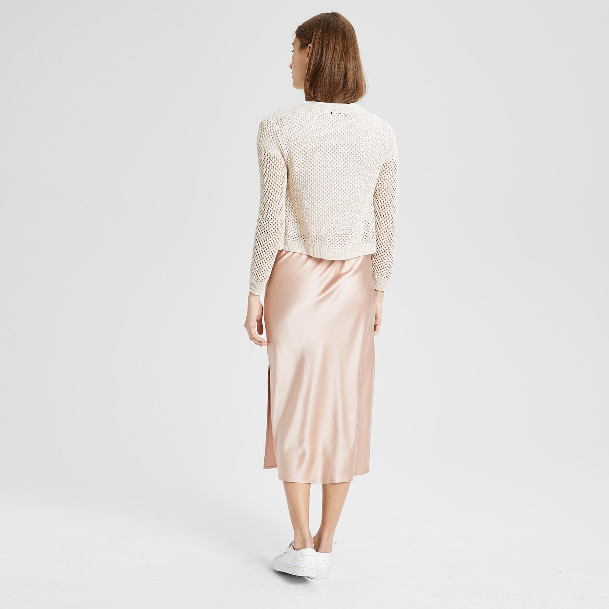 271b59555caf Theory - White Silk Satin Pull-on Slip Skirt - Lyst. View fullscreen