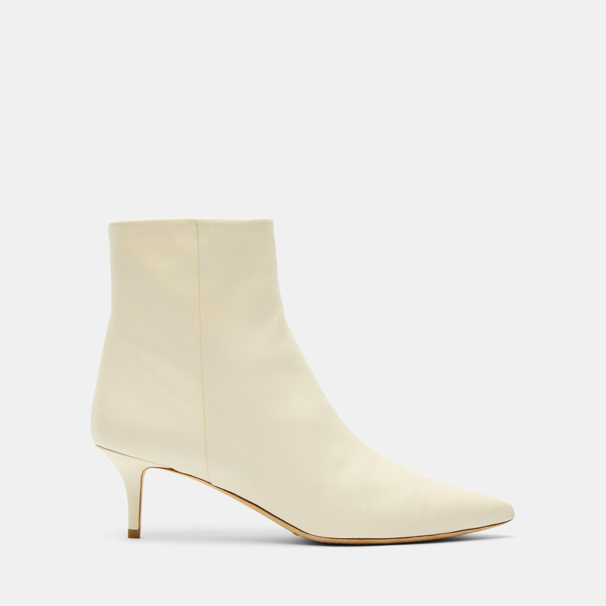 f31c52e9a6 Lyst - Theory Kitten Heel Bootie In Leather in White