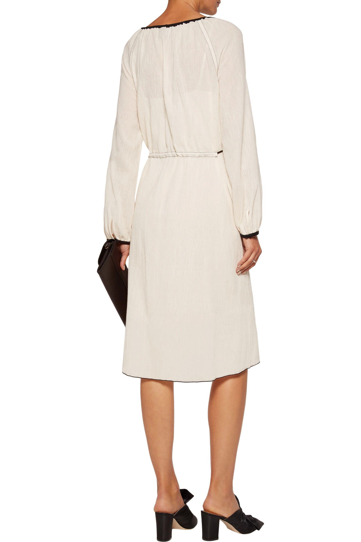 Theory Woman Etsville Tasseled Cotton-gauze Dress Ecru Size L Theory hcgSaayTu