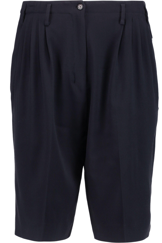 Agnona. Women's Pleated Stretch Wool-blend Crepe Shorts ...