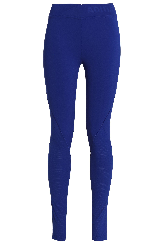 5bad3a3301da9 adidas Woman Stretch Leggings Royal Blue in Blue - Lyst