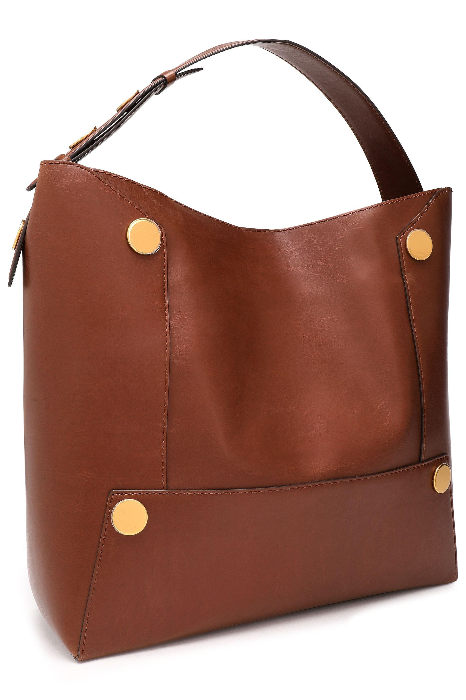 096c4150912e Stella McCartney - Woman Embellished Faux Leather Tote Brown - Lyst. View  fullscreen