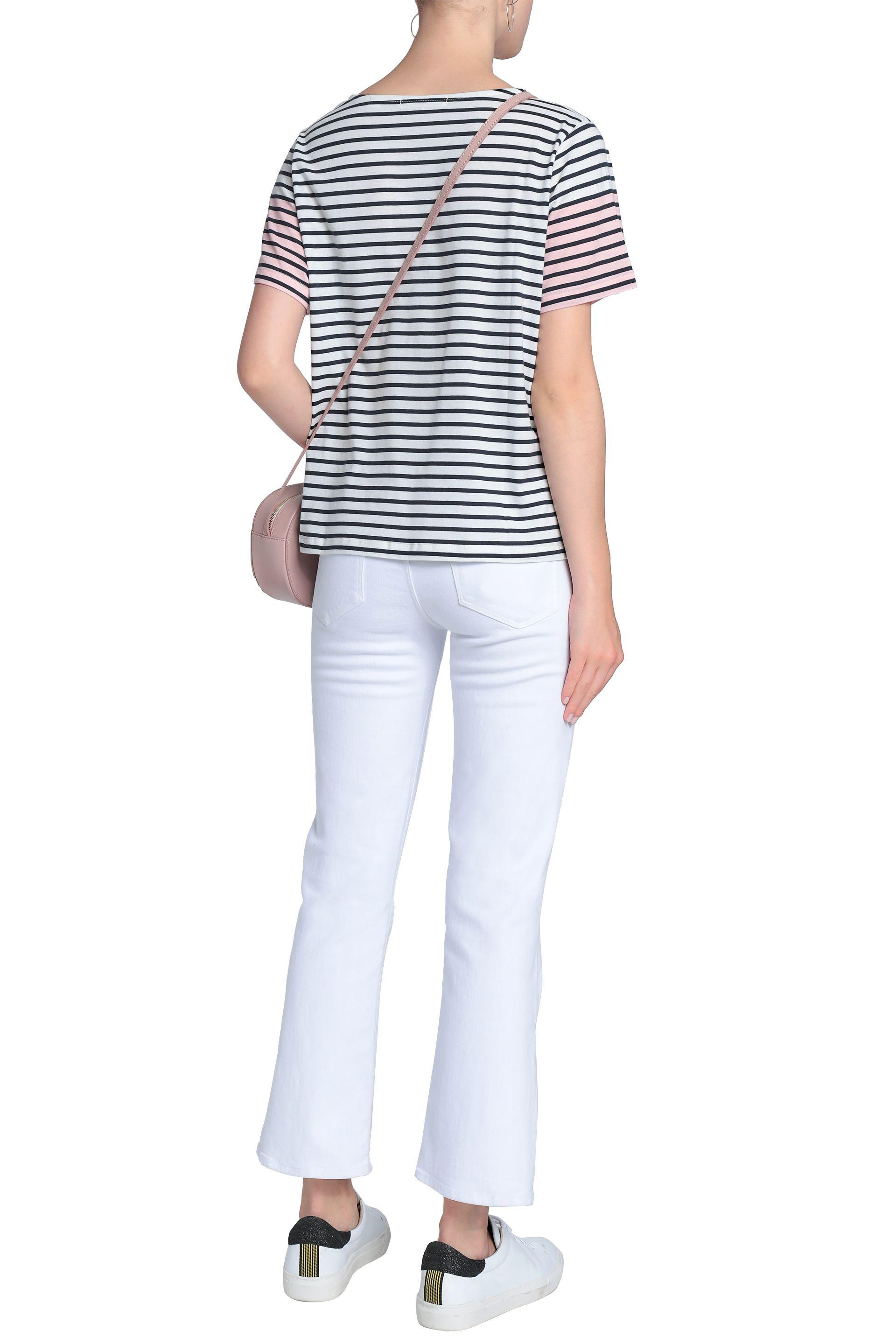 57b251082768ce Lyst - Chinti   Parker Woman Striped Cotton-jersey T-shirt White in ...