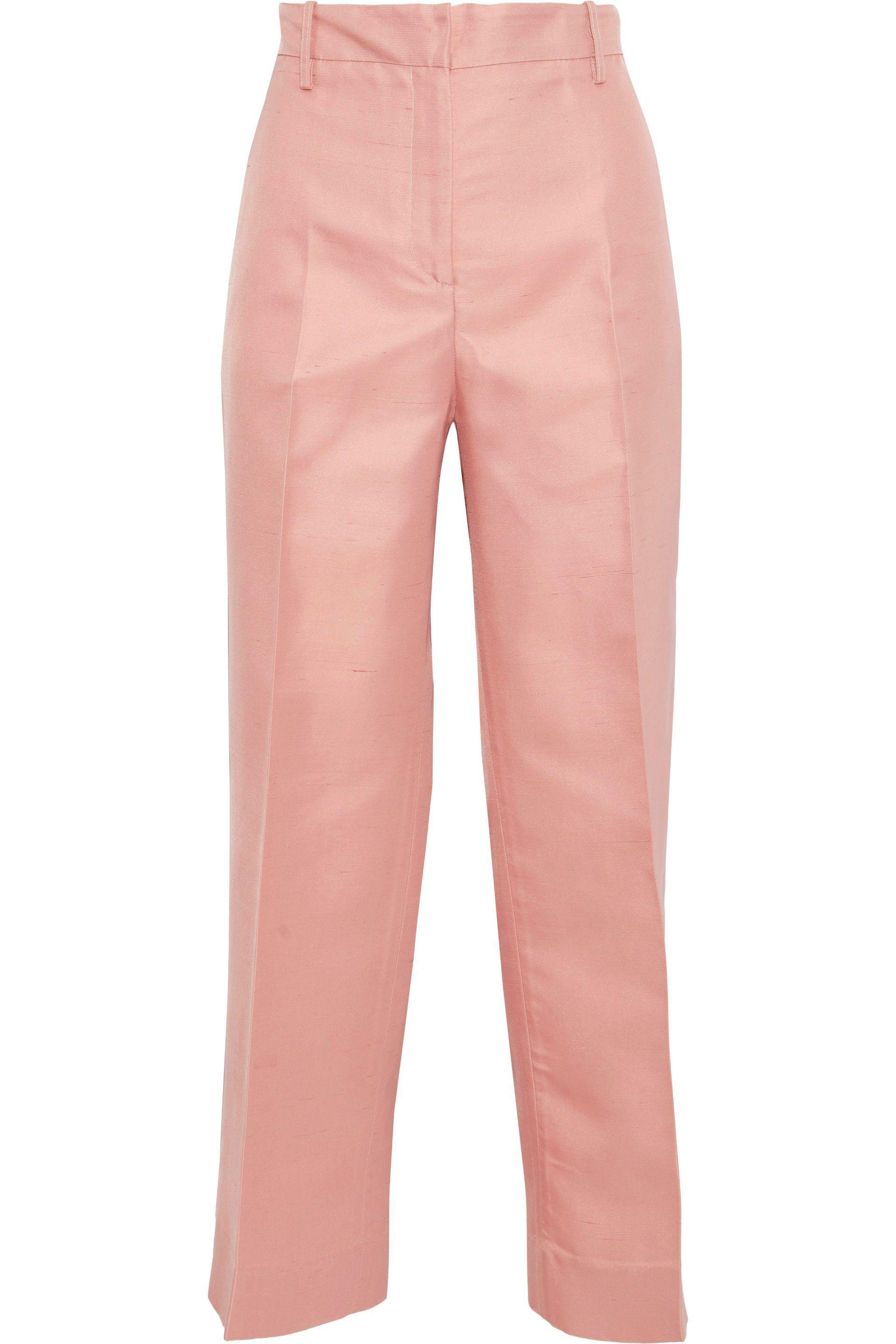 26fed2041ce36c mansur-gavriel-Blush-Woman-Silk-shantung-Straight-leg-Pants-Blush.jpeg