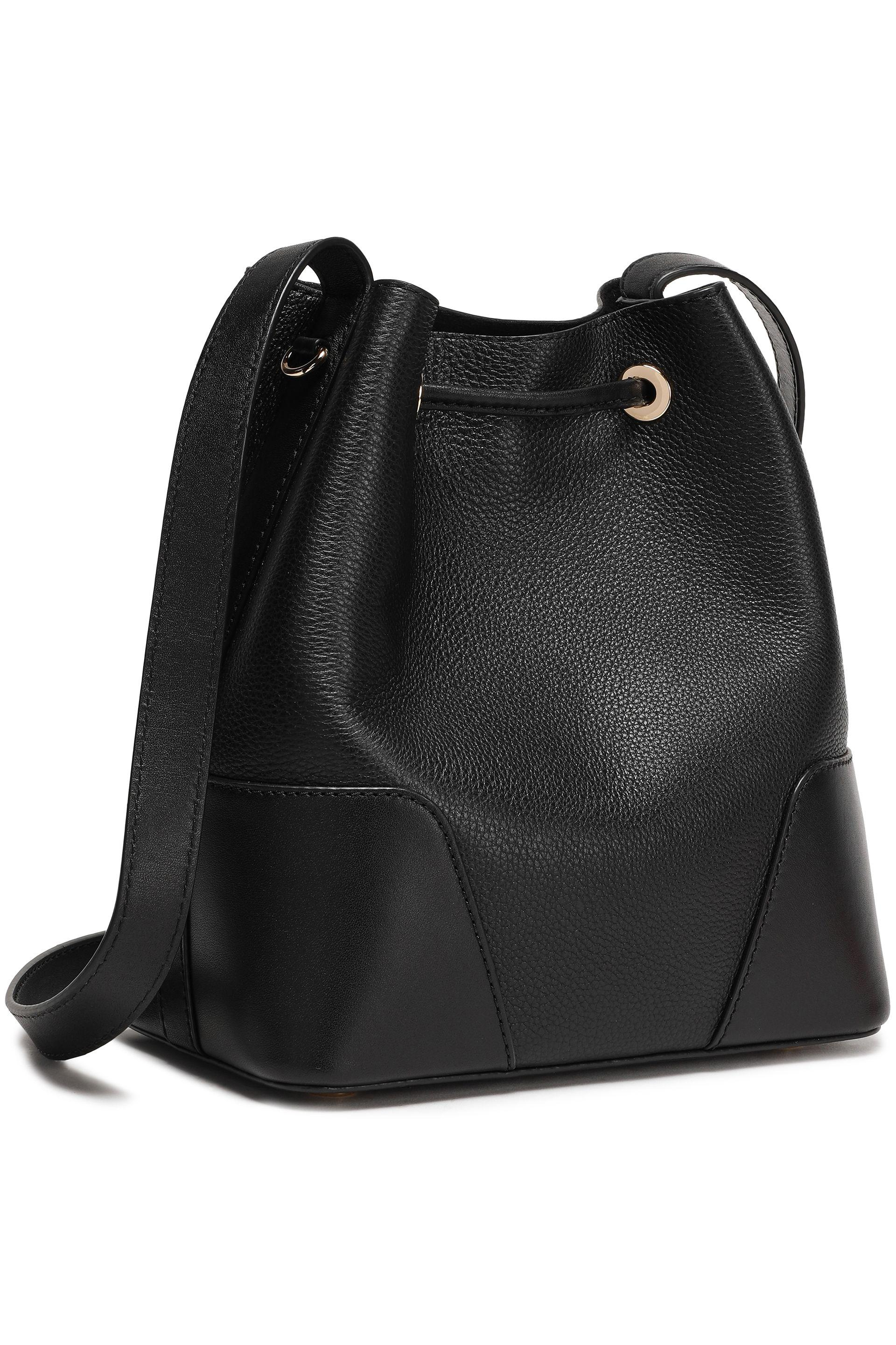 645ac0ad7419d MICHAEL Michael Kors Woman Cary Pebbled-leather Bucket Bag Black in ...