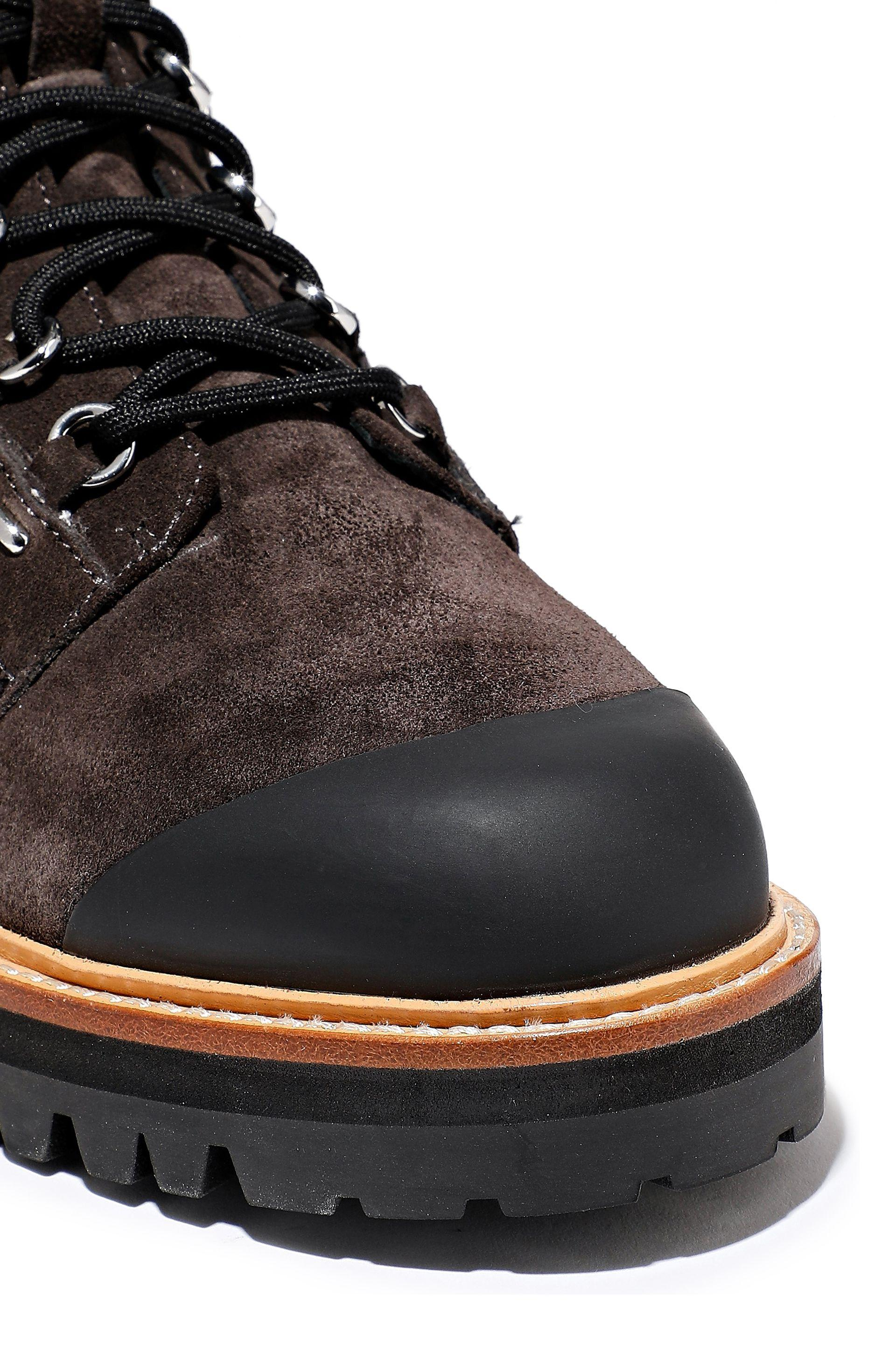 26c19093bfda Sigerson Morrison Irene Rubber-paneled Suede Ankle Boots Dark Brown. View  fullscreen