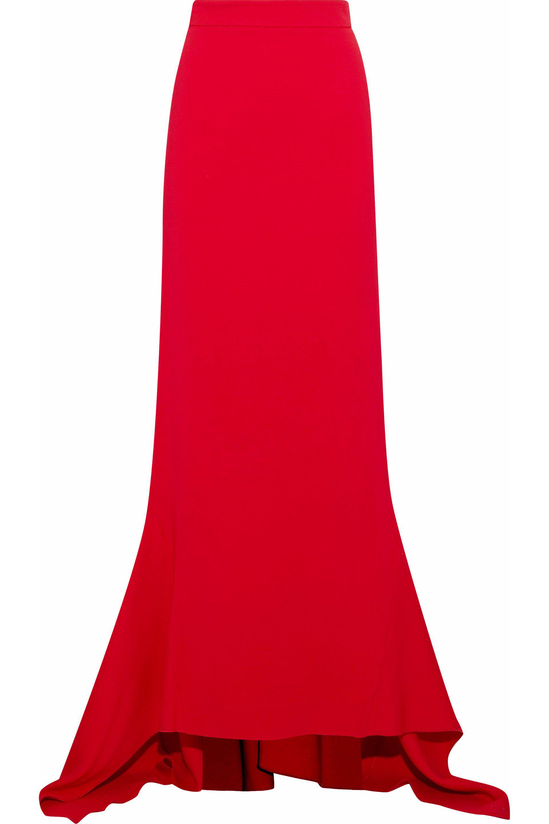 cb3bc2865e Antonio Berardi Fluted Stretch-crepe Maxi Skirt in Red - Lyst