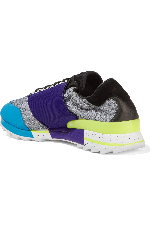 28de1a2fd355c Lyst - Y-3 + Adidas Originals Rhita Sport Leather-trimmed Mesh And ...