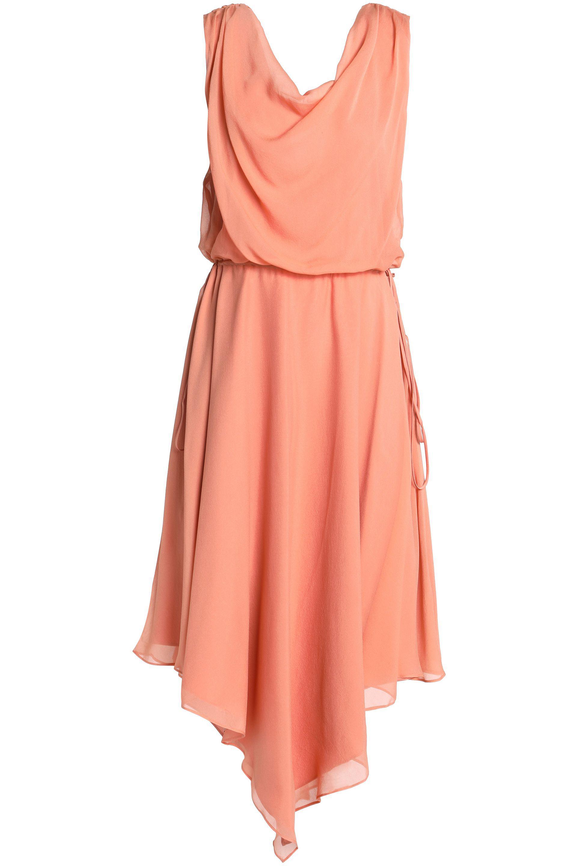 Haute Hippie Woman Floral-print Silk Crepe De Chine Halterneck Mini Dress Peach Size 10 Haute Hippie l6UvU