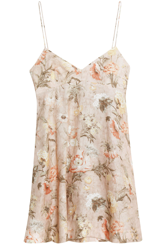 Zimmermann Woman Flared Floral-print Linen Mini Dress Black Size 0 Zimmermann qQ2tePyt