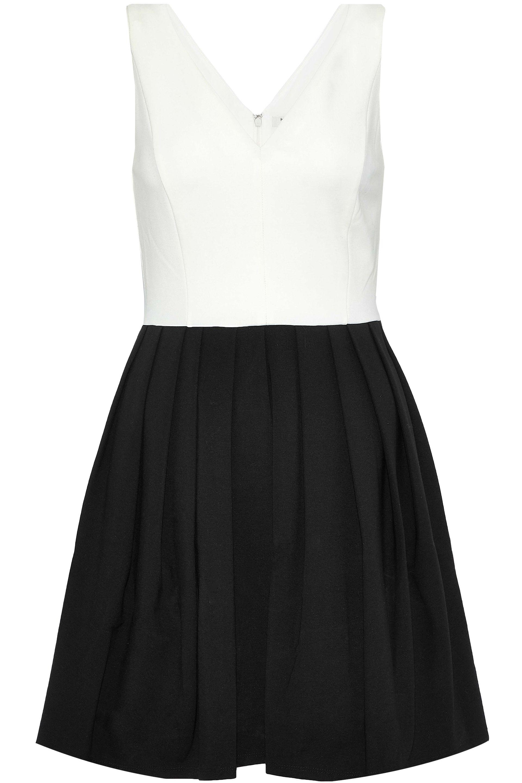 Halston Heritage Woman Stretch-cotton Ponte Mini Dress Black Size 2 Halston Heritage zehOqziZyi