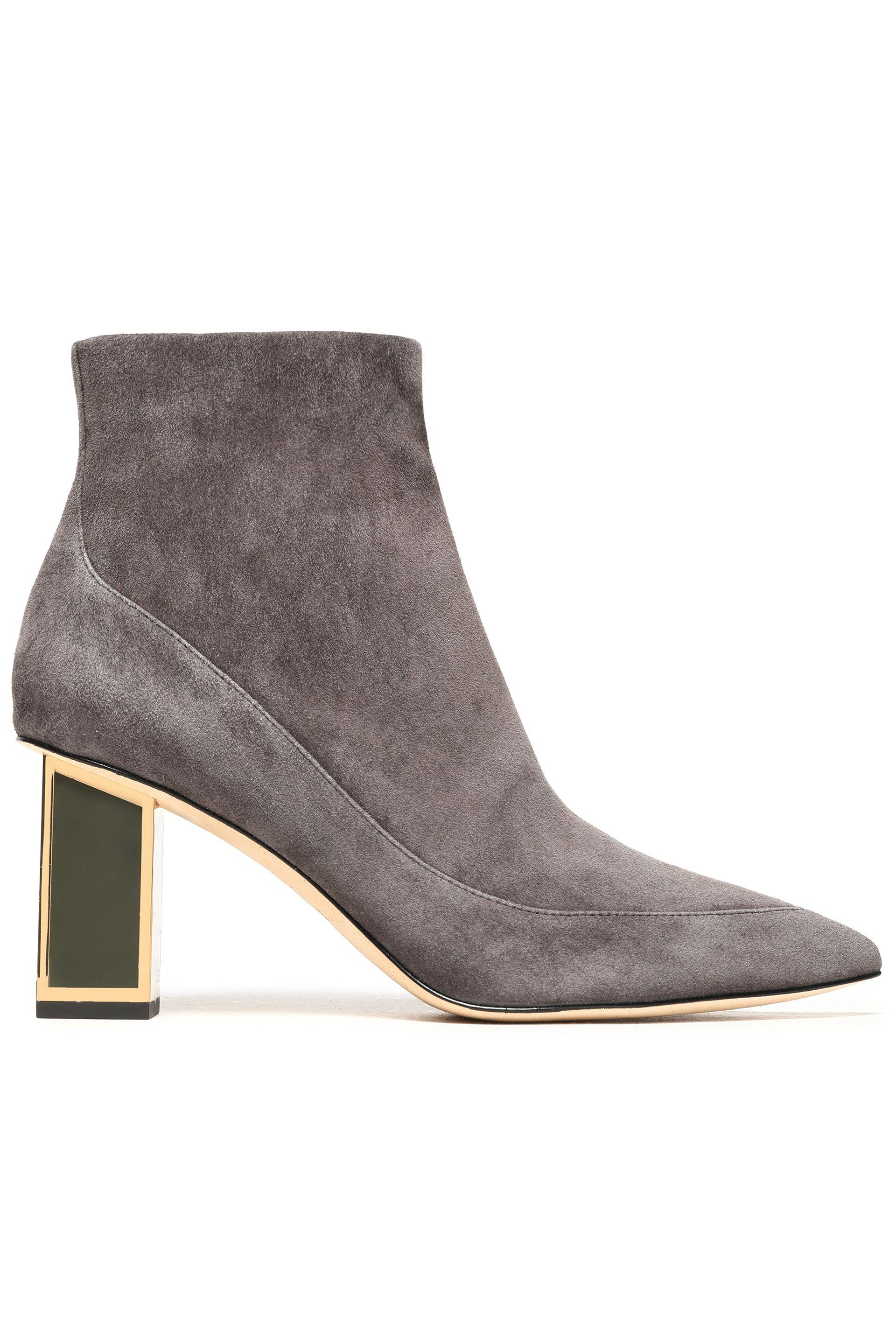 Diane von Furstenberg Suede Pointed-Toe Ankle Boots cheap sale real UkheW3DuUv