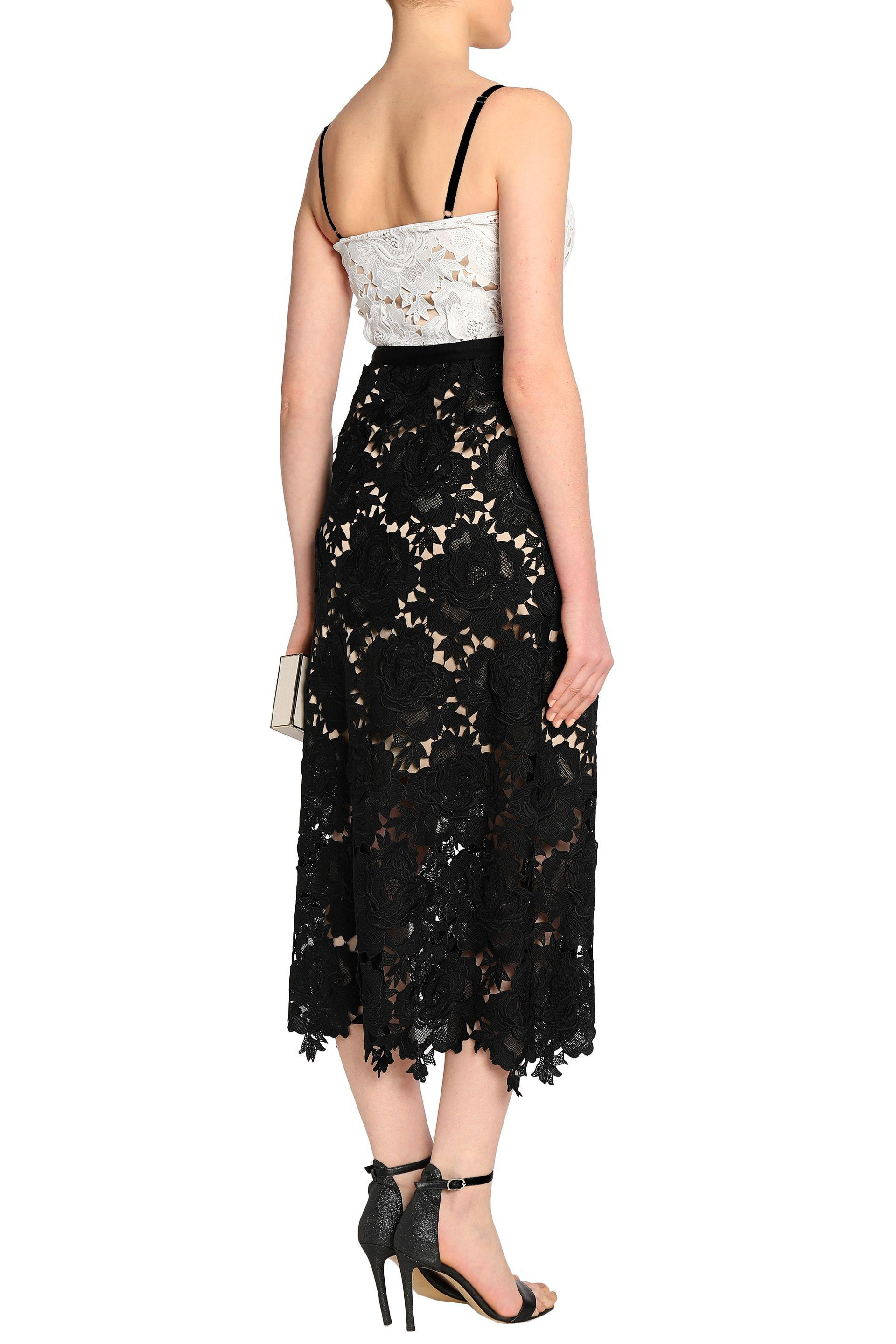 a9f73210c574 Lyst - Catherine Deane Frida Two-tone Guipure Lace Midi Dress in Black