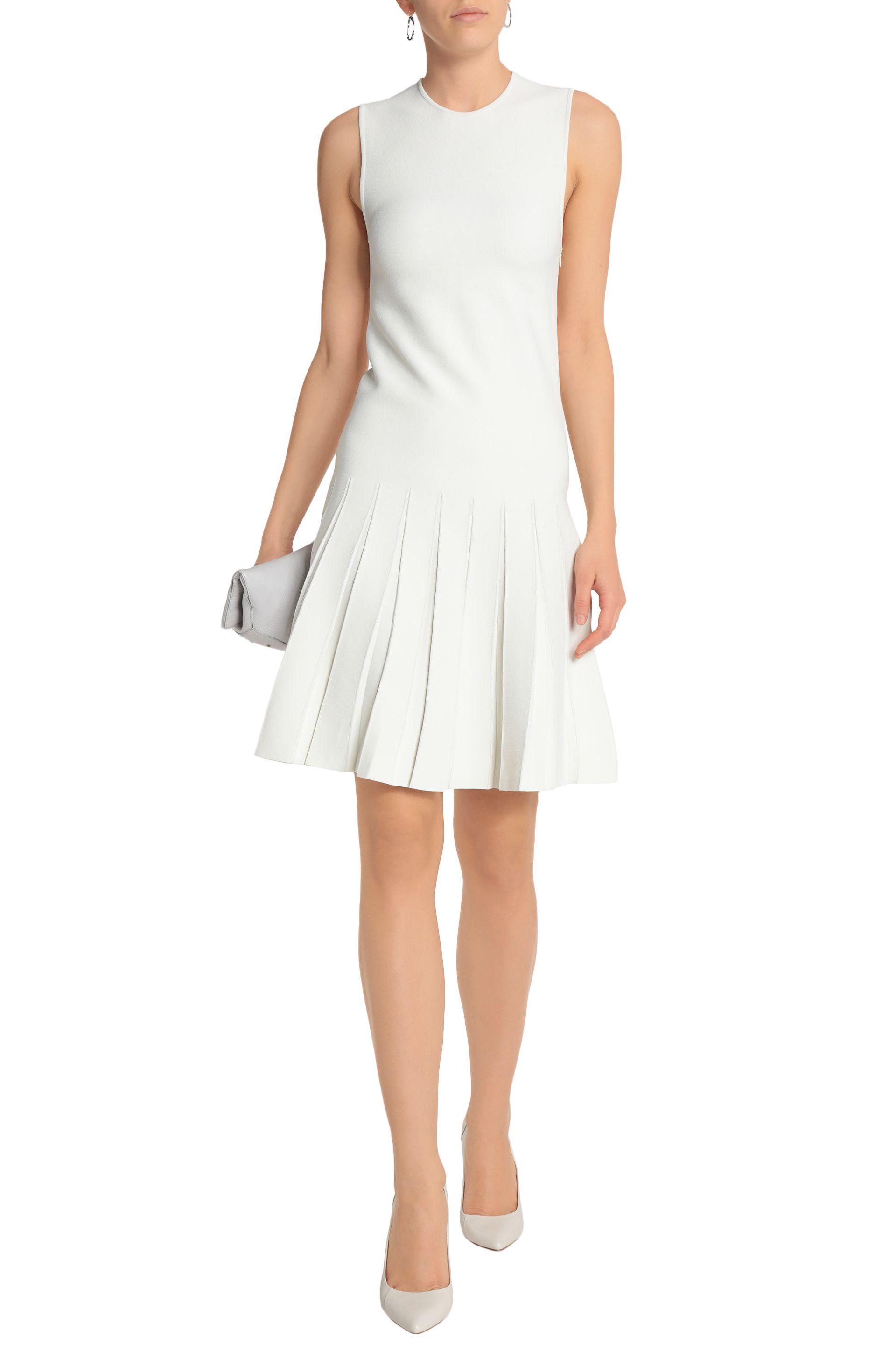Calvin Klein Collection Woman Whitney Pleated Ponte Dress Ivory Size XL Calvin Klein Buy Cheap Extremely Low Cost Sale Online ImJjxs