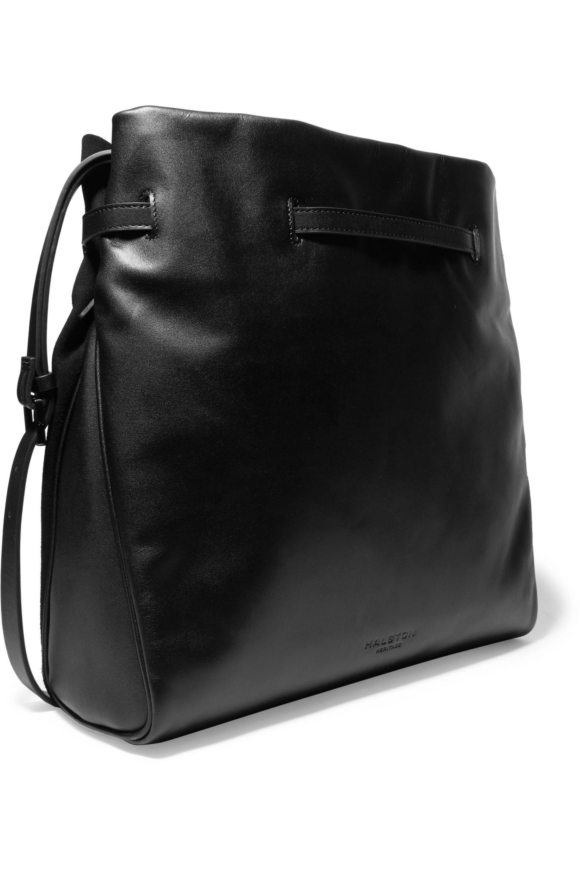d37e32703c04 Lyst - Halston Olivia Leather And Suede Shoulder Bag in Black