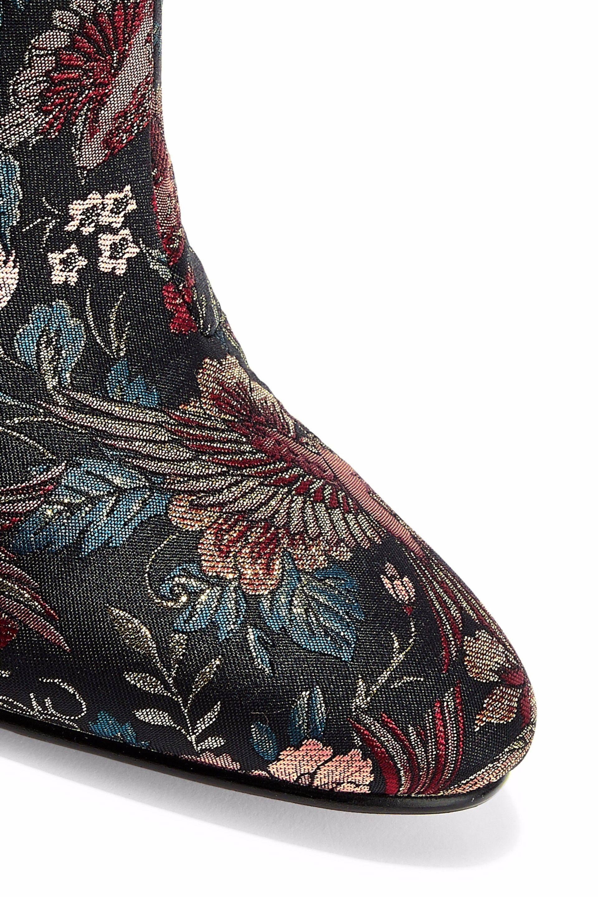 f11cb14e2 Sam Edelman - Woman Taye Metallic Jacquard Ankle Boots Multicolor - Lyst.  View fullscreen