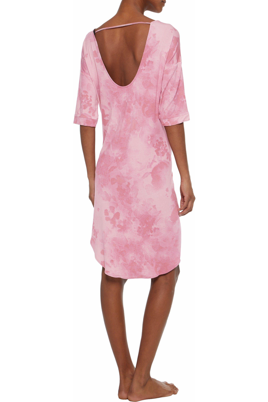Dkny Woman Tie-dye Modal-blend Jersey Nightdress Blush Size XL DKNY Best Seller Cheap Price aVGglm5TO