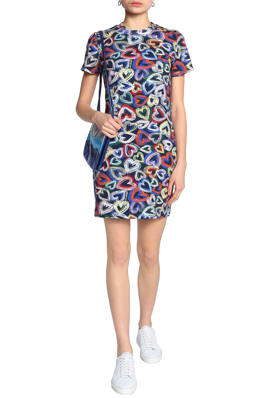 Love Moschino Woman Button-detailed Stretch-jersey Dress Pastel Orange Size 42 Love Moschino ivsJrz0cZW
