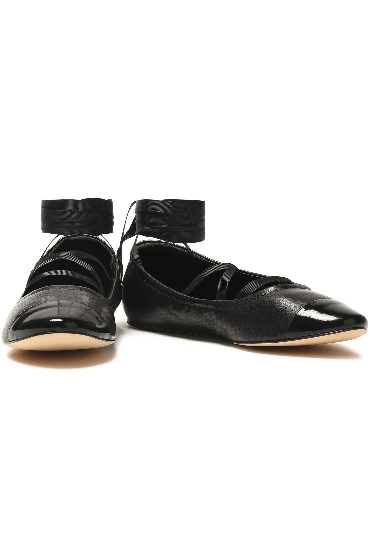 Sigerson Morrison Woman Matte And Patent-leather Ballet Flats Black Size 9 Sigerson Morrison bPAZF