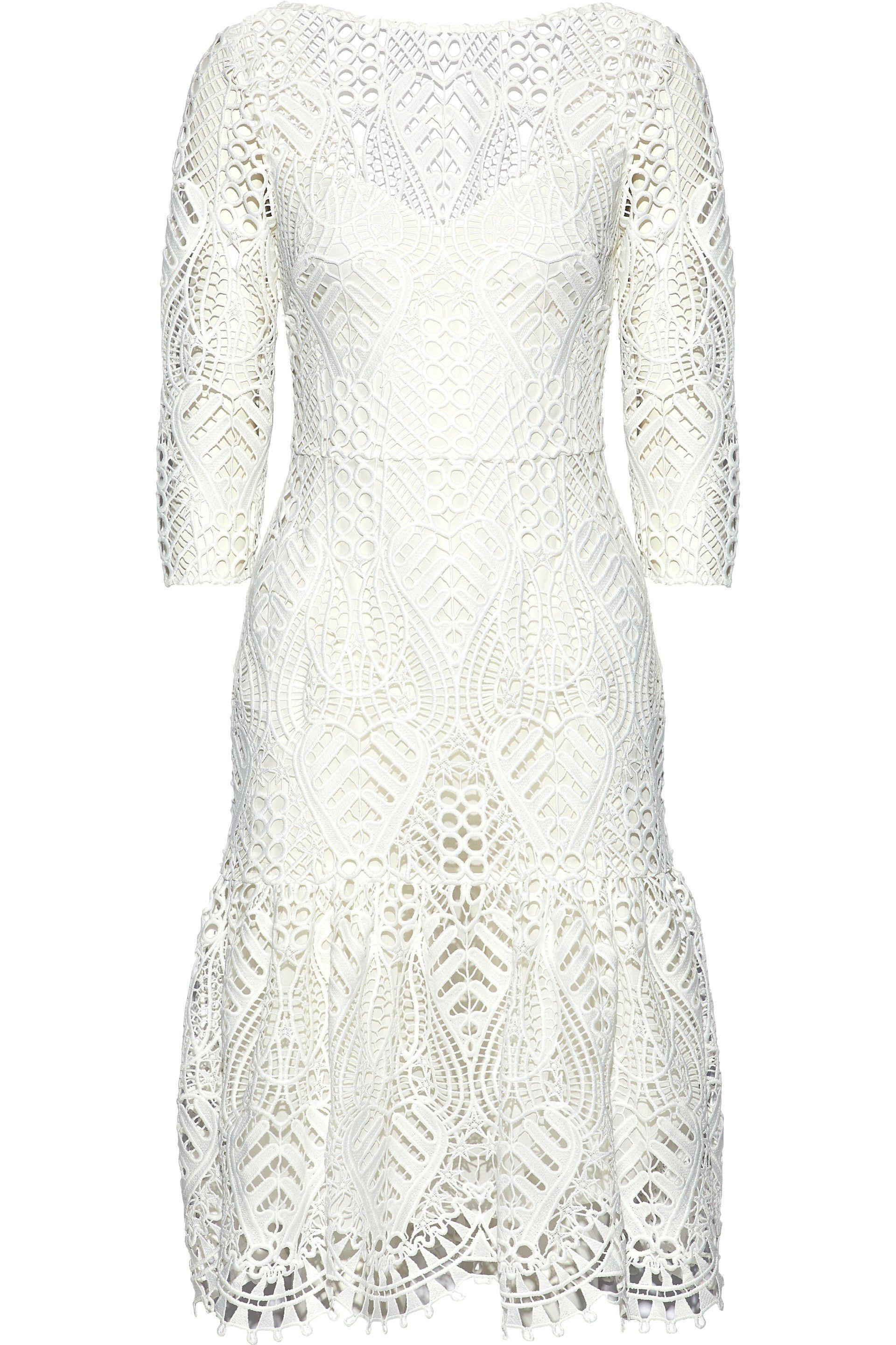 For Sale Online Store Buy Cheap Pictures Temperley London Woman New Moon Guipure Lace Dress White Size 10 Temperley London Discount Authentic Sale Clearance Store 3X3ETo