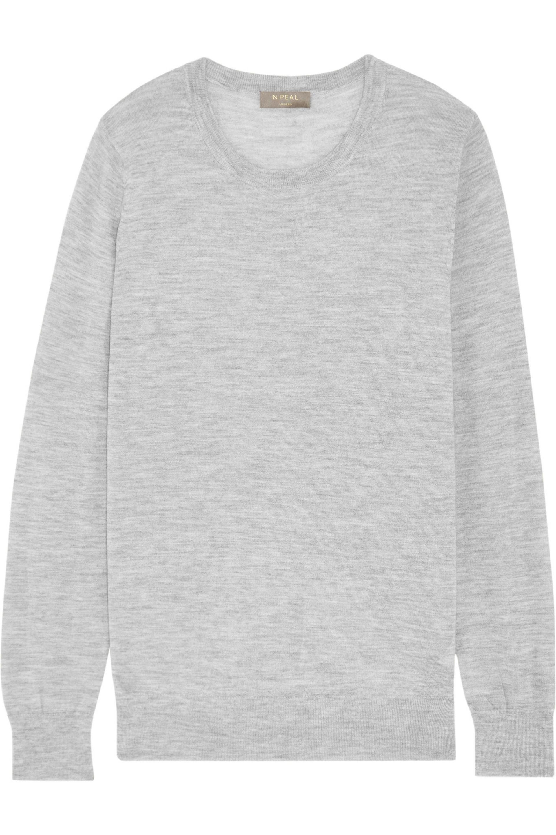 N.peal cashmere Cashmere Sweater Light Gray in Gray | Lyst