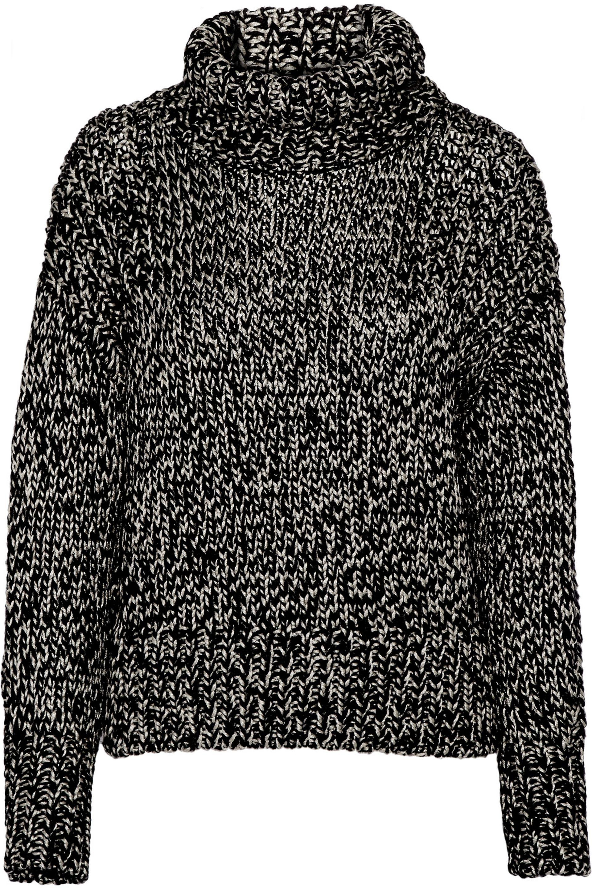 Rag & Bone. Women's Black Sandra Metallic Wool-blend Sweater