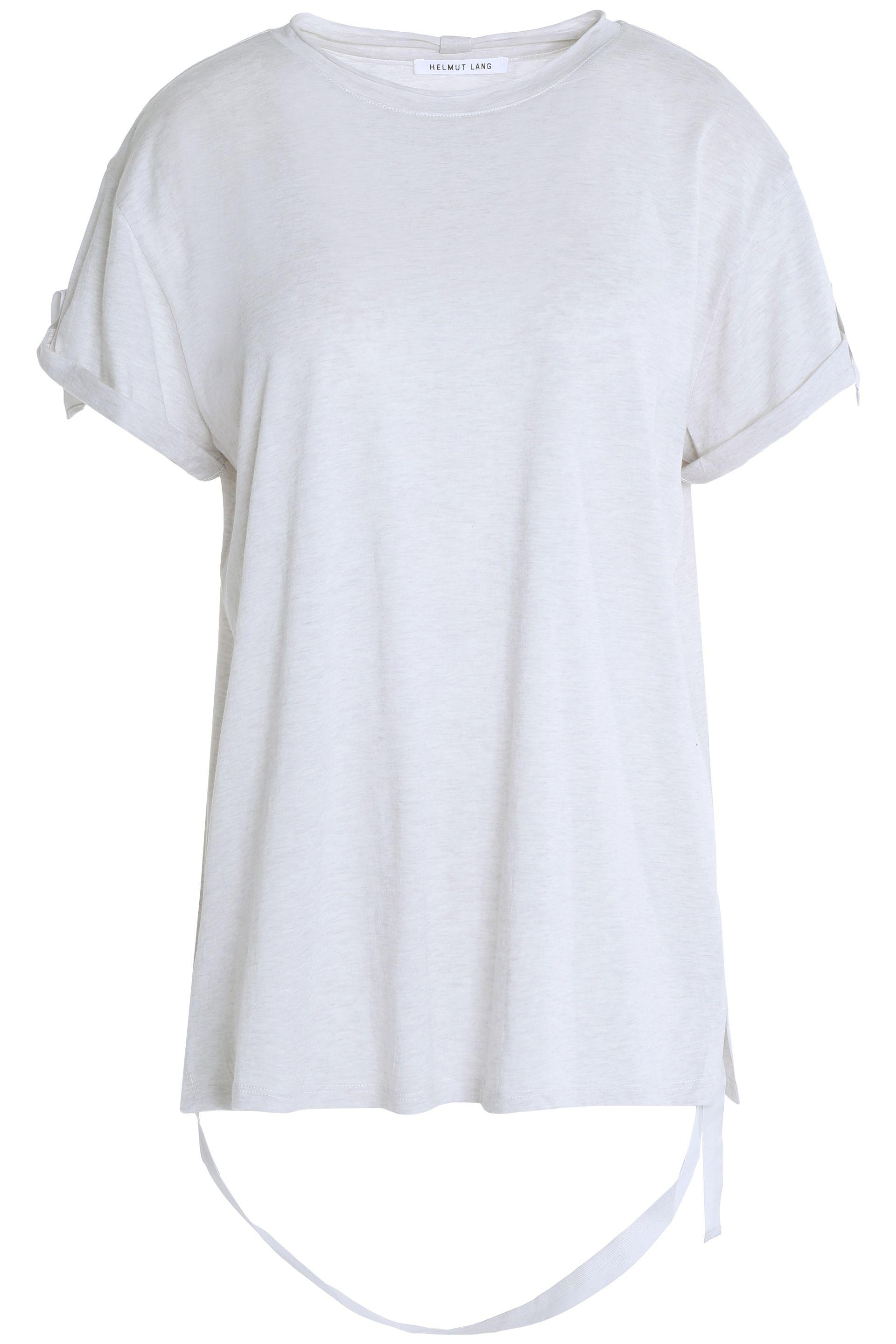 Outlet New Helmut Lang Woman Cotton And Cashmere-blend Jersey T-shirt Light Gray Size M Helmut Lang Sale Sneakernews For Sale Fake Discount Pick A Best io6cKSt