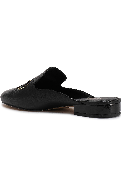 365be59d3e37 MICHAEL Michael Kors Woman Natasha Beaded Leather Mules Black in ...