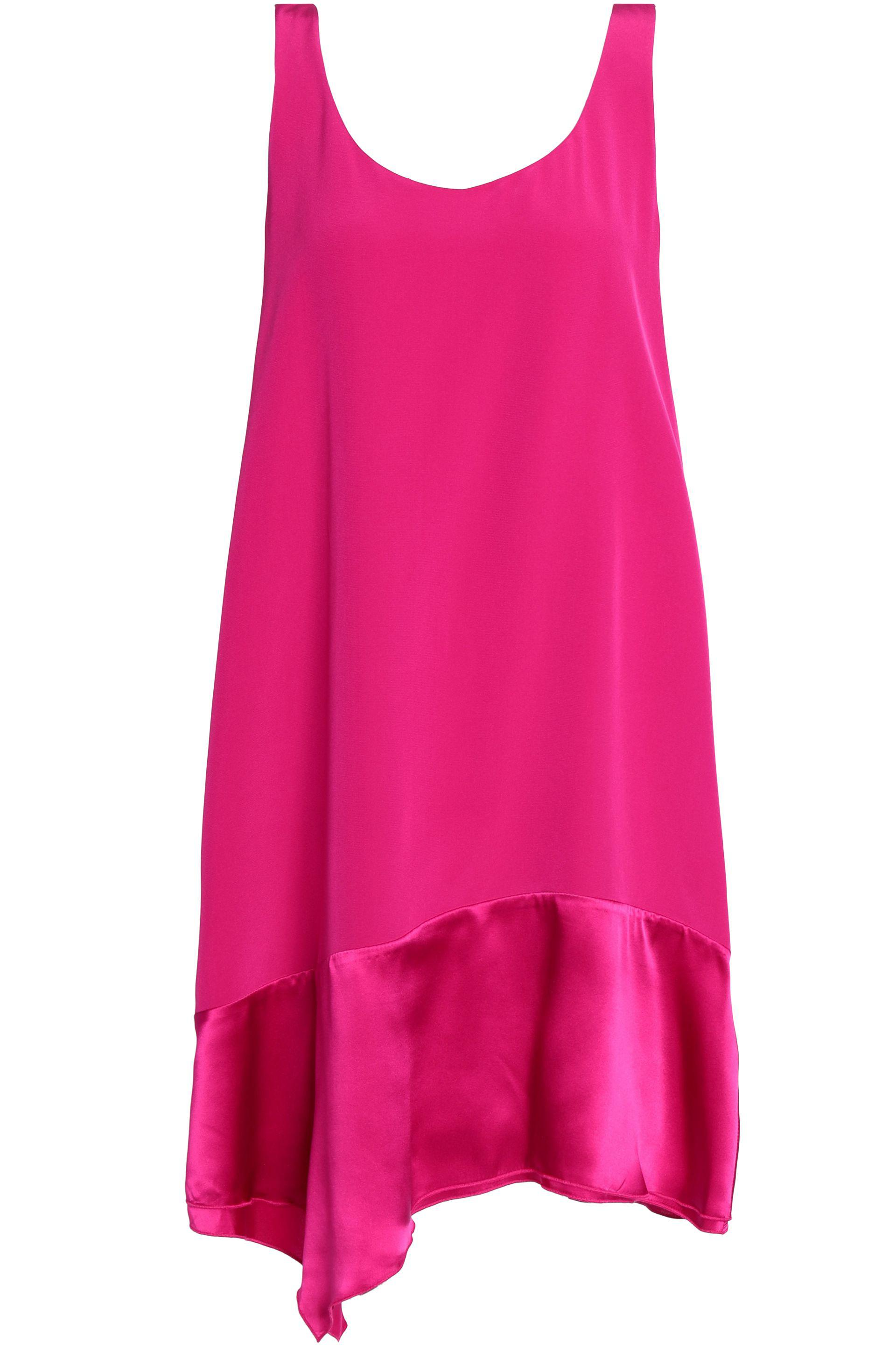 Online Cheap Authentic For Sale Cheap Online 3.1 Phillip Lim Woman Satin-trimmed Silk-crepe Dress Fuchsia Size 2 3.1 Phillip Lim Outlet In China wveOrRH