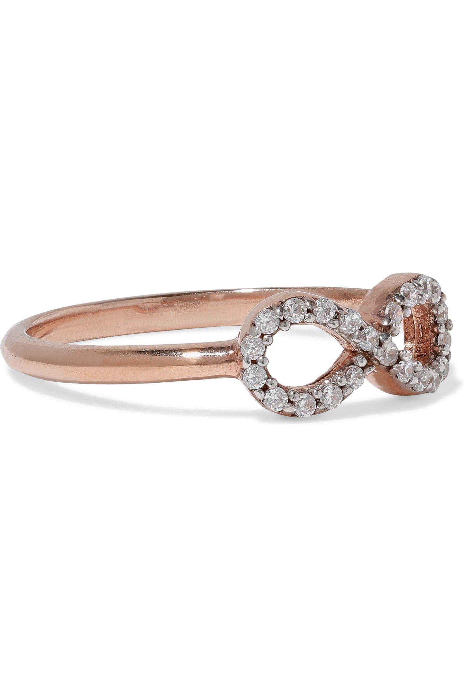 Aamaya By Priyanka Woman Rose Gold-tone Crystal Ring Rose Gold Size 6 Aamaya By Priyanka qTGolXdxP