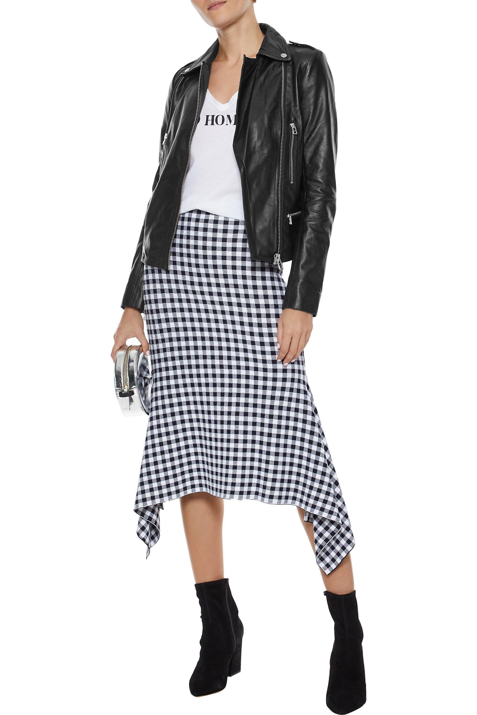 dcf6e9b60c72 Muubaa - Woman Leather Biker Jacket Black - Lyst. View fullscreen