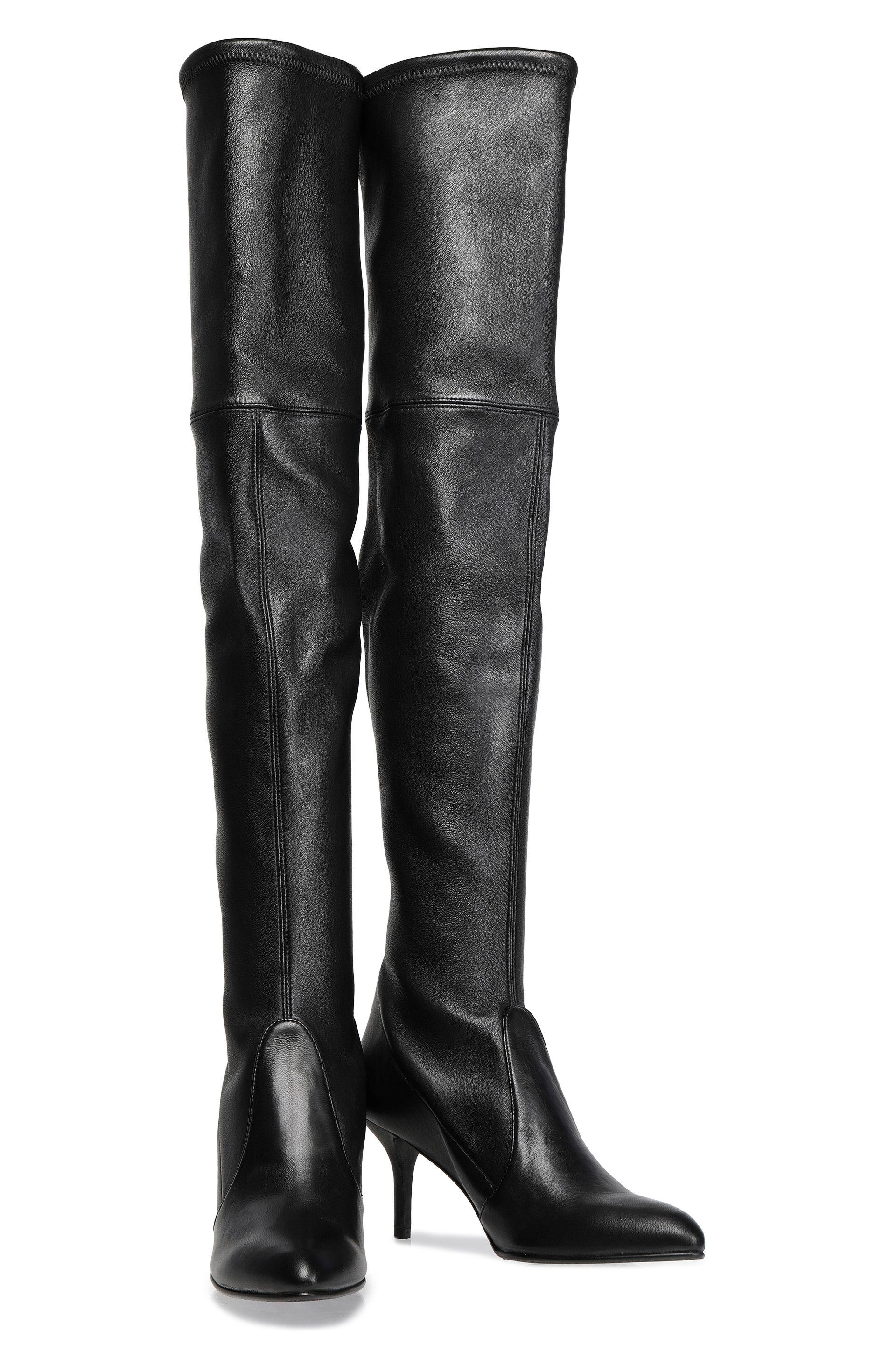 b57c807afd8 Stuart Weitzman - Woman Stretch-leather Over-the-knee Boots Black - Lyst.  View fullscreen