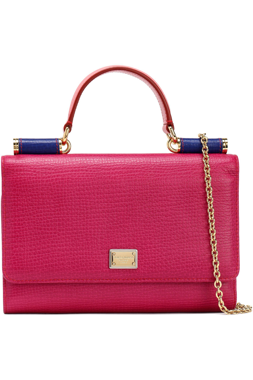 Dolce   Gabbana Von Textured-leather Phone Case - Lyst dfdcc3abce990