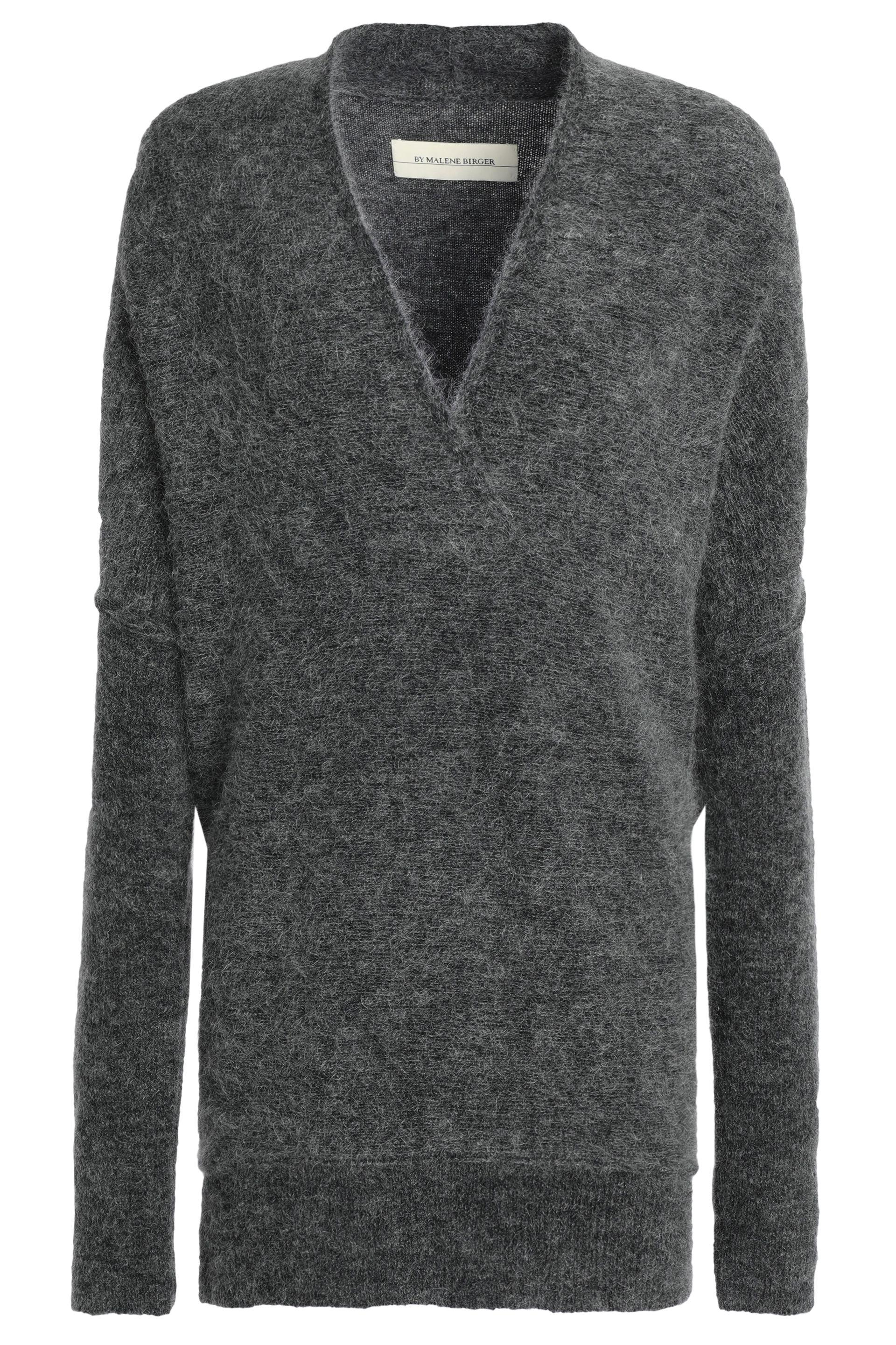 585c204d17e5 By Malene Birger - Gray Woman Knitted Sweater Anthracite - Lyst. View  fullscreen