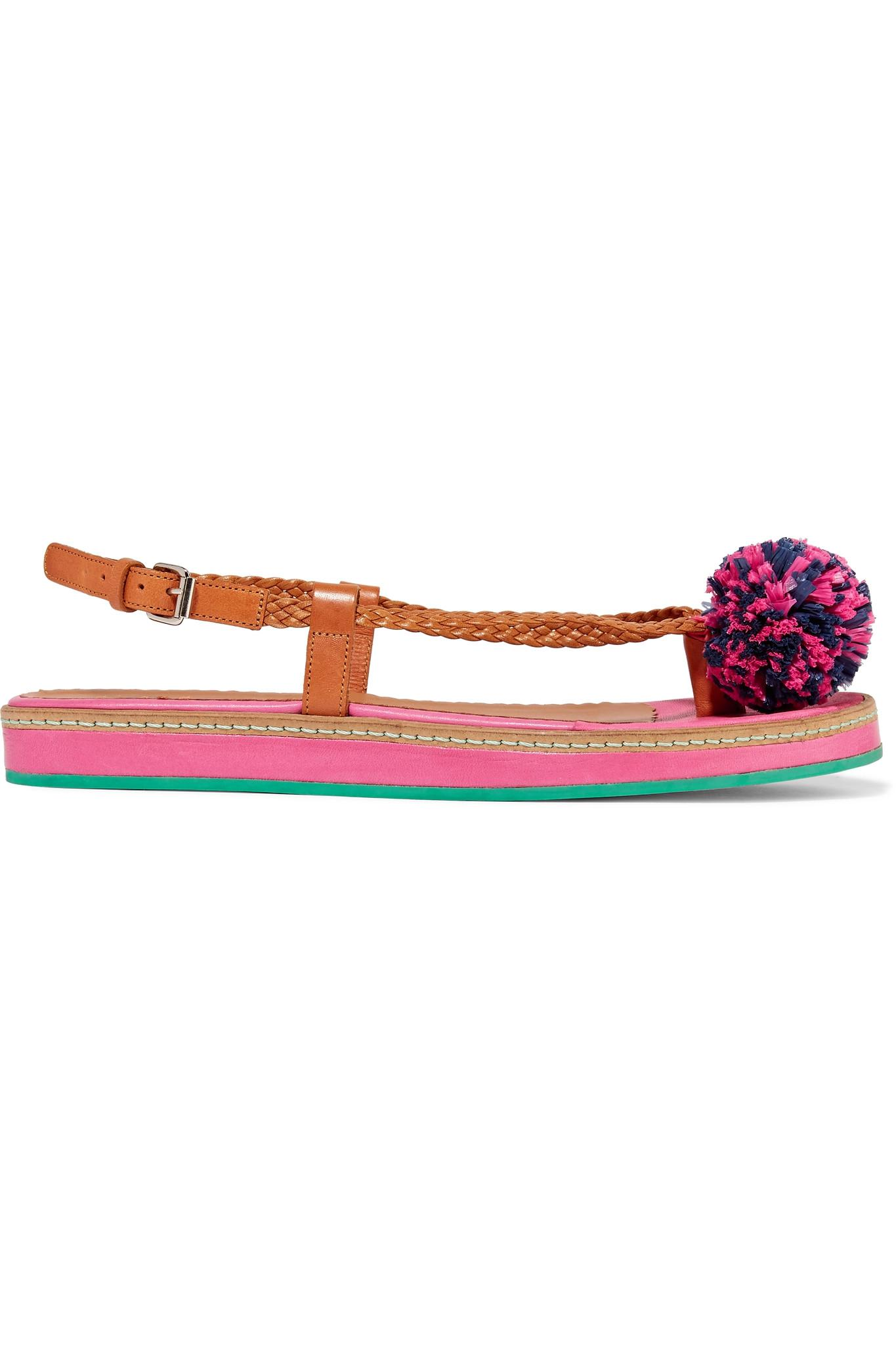 M Missoni Leather Embellished Sandals discount best sale the cheapest sale online 2015 new online clearance sast FXCpYMka