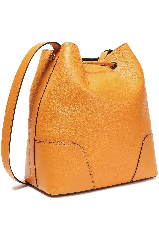 e3148165eb66 MICHAEL Michael Kors - Orange Woman Pebbled--leather Bucket Bag Marigold -  Lyst. View fullscreen