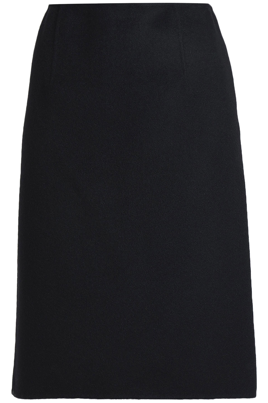 977d0b1fe2 Bottega Veneta Brushed-cashmere Skirt in Black - Lyst