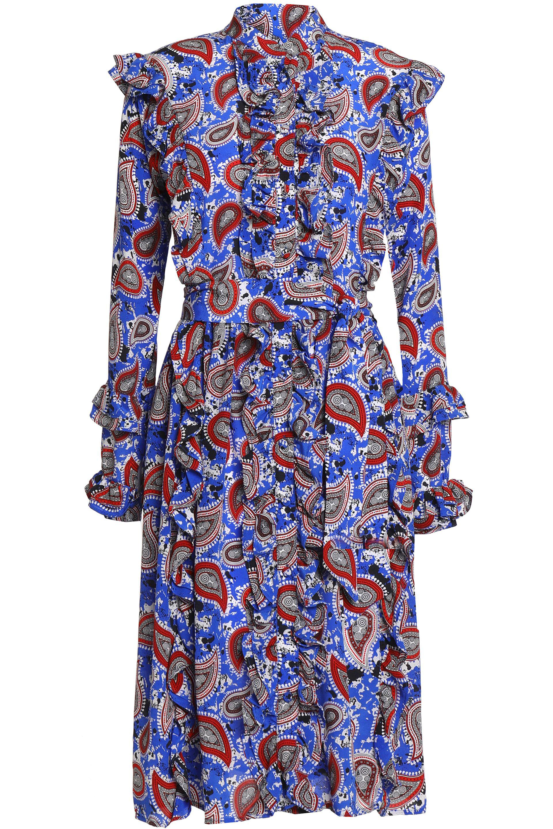 Clearance How Much Dodo Bar Or Woman Ruffle-trimmed Printed Silk-crepe De Chine Maxi Dress Blue Size 42 Dodo Bar Or Free Shipping Clearance zMqH0vbjVh
